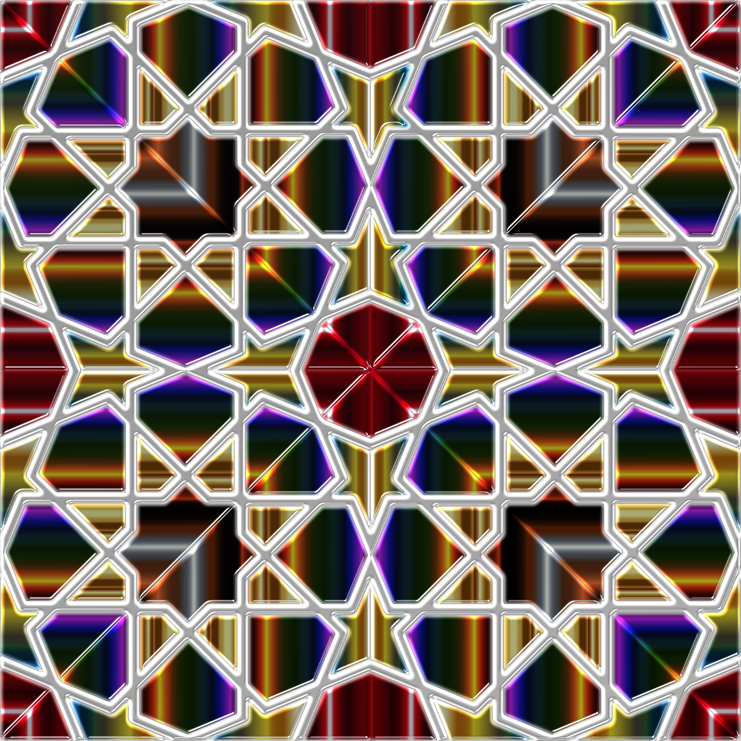 Islamic Geometric Tile 9 by GDJ