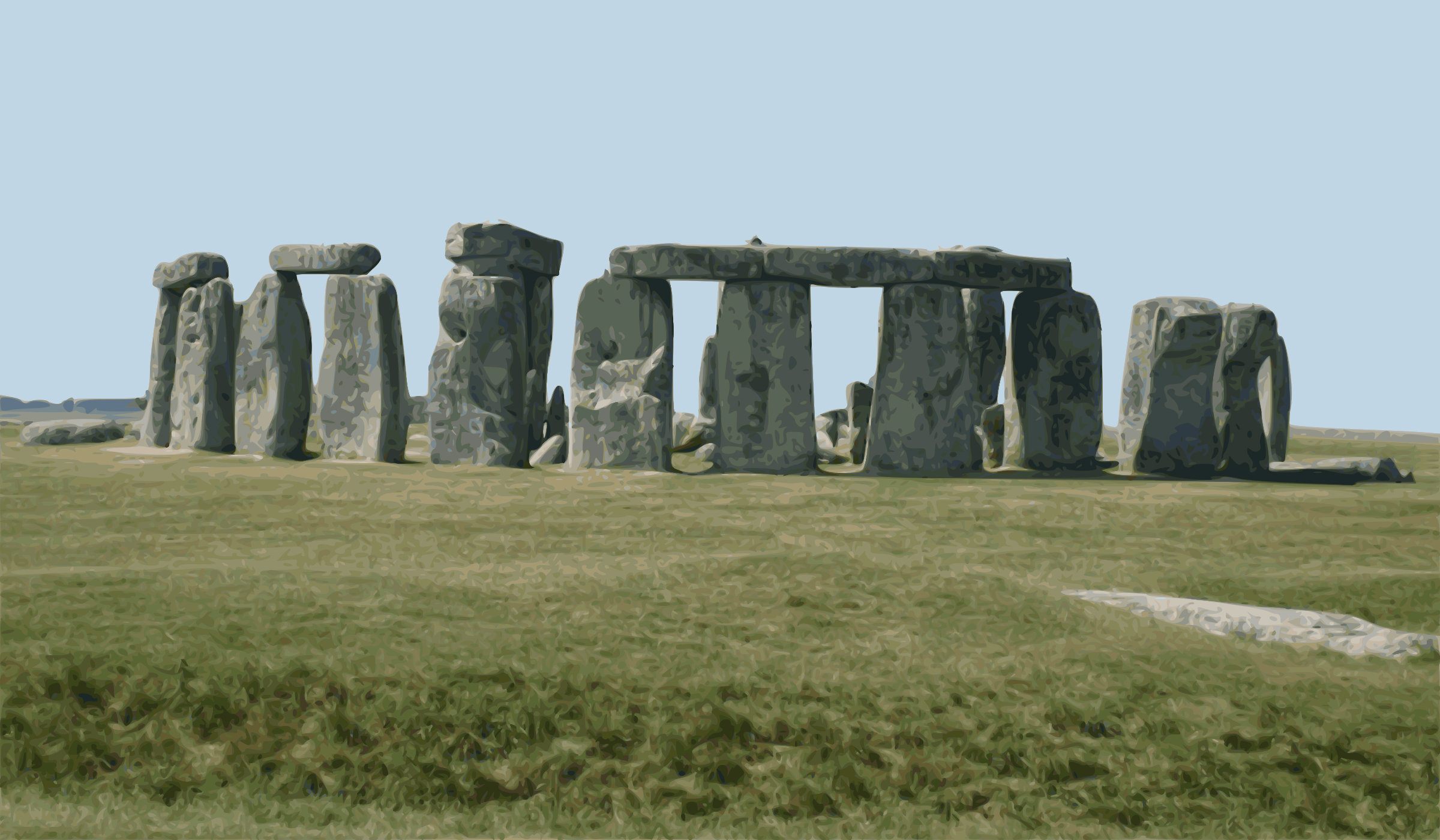 Stonehenge (colour) by Firkin