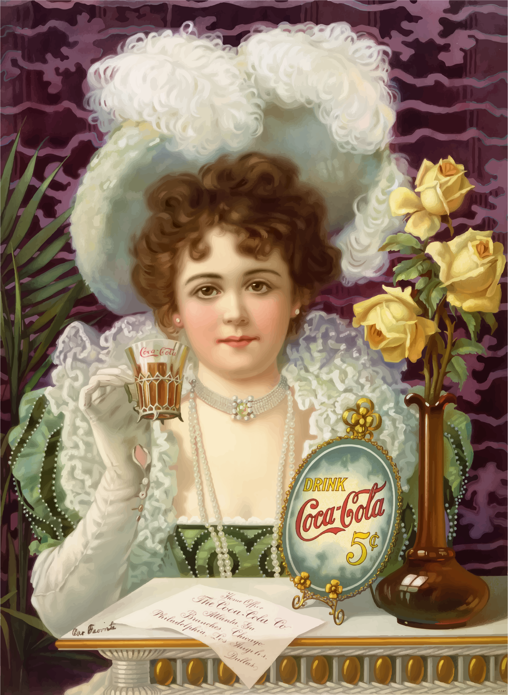 Coca Cola 5 Cents 1900 by GDJ