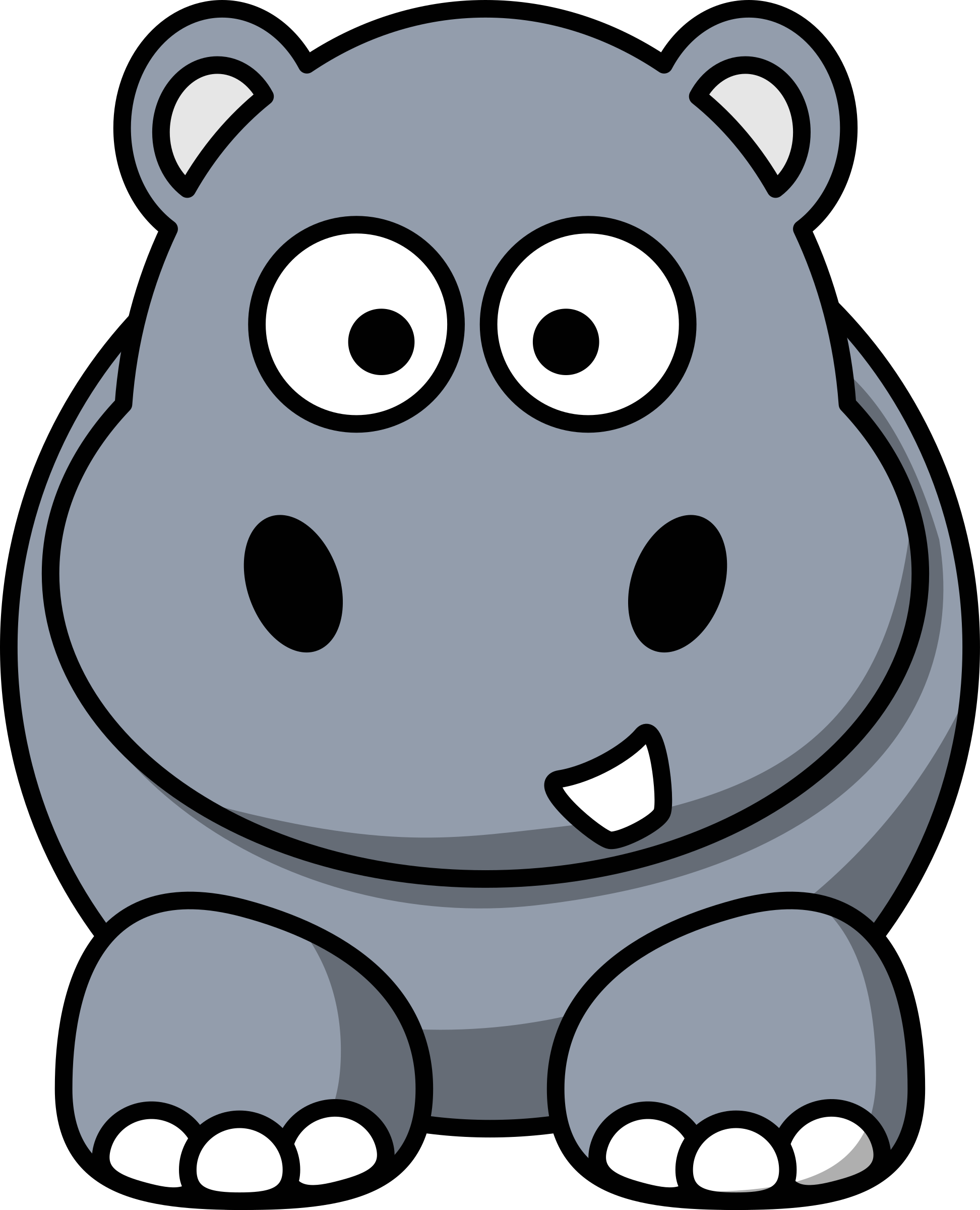 Cartoon hippo by StudioFibonacci
