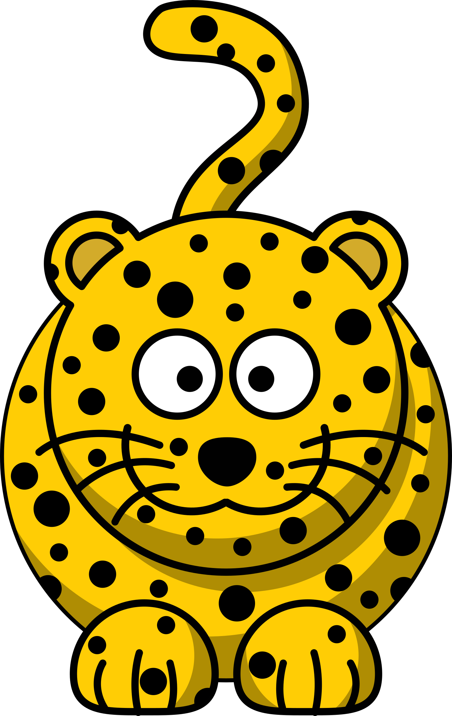 clipart cartoon leopard rh openclipart org baby jungle animals clipart free jungle animals clipart png