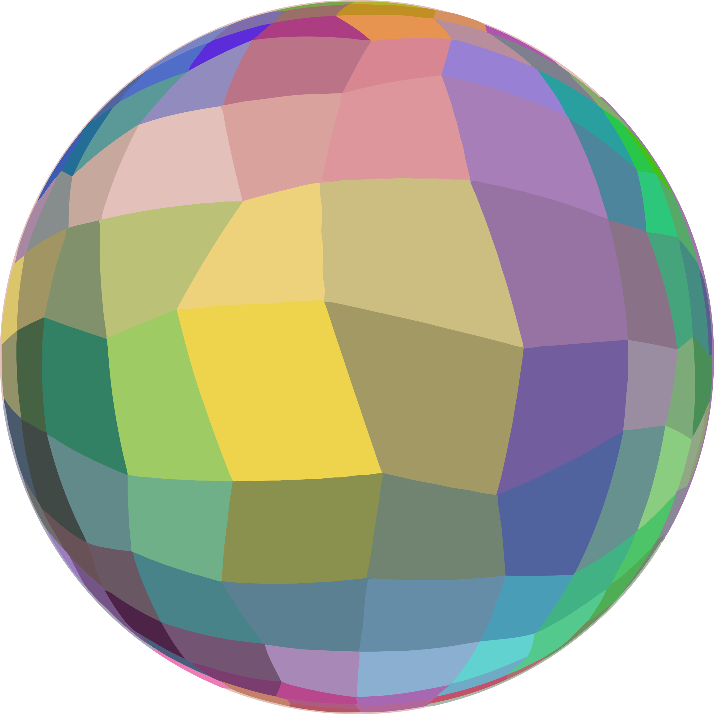 Mosaic Ball On A Diet by GDJ
