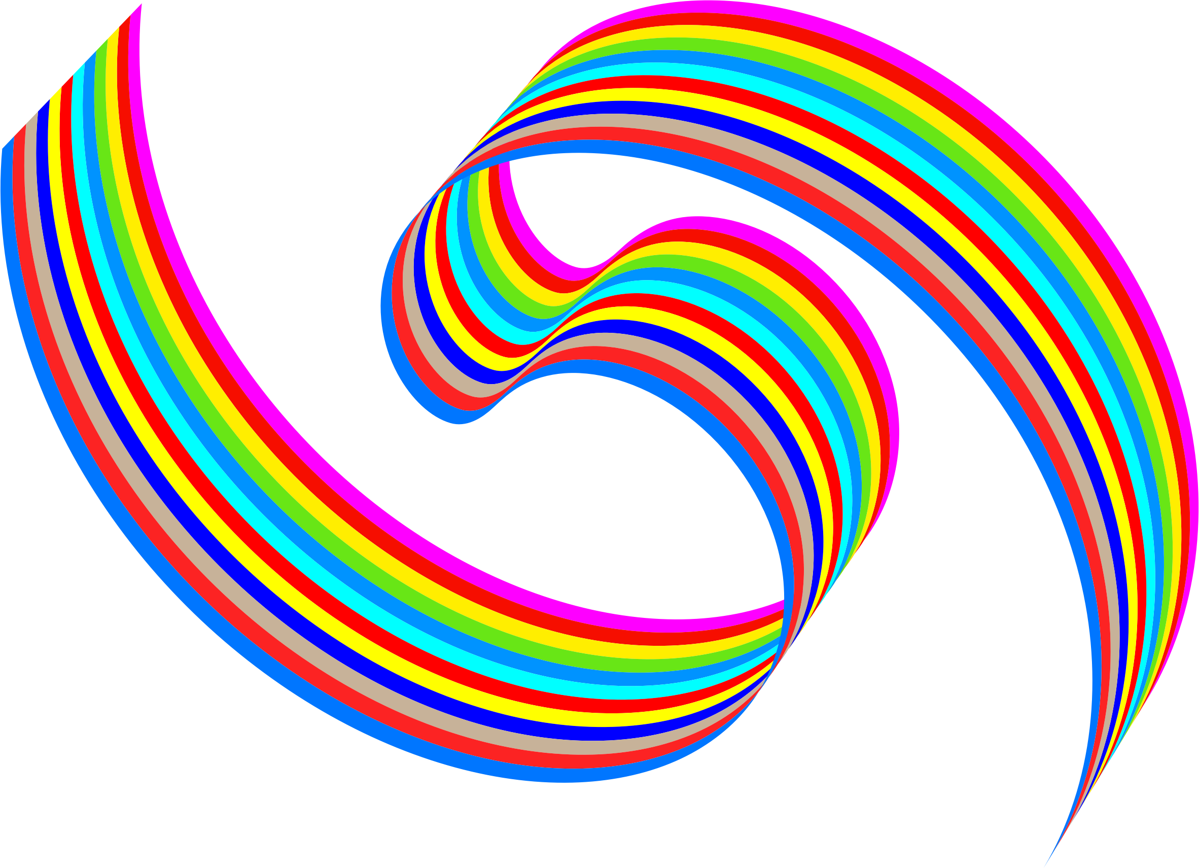 Wavy Rainbow Ribbon by GDJ