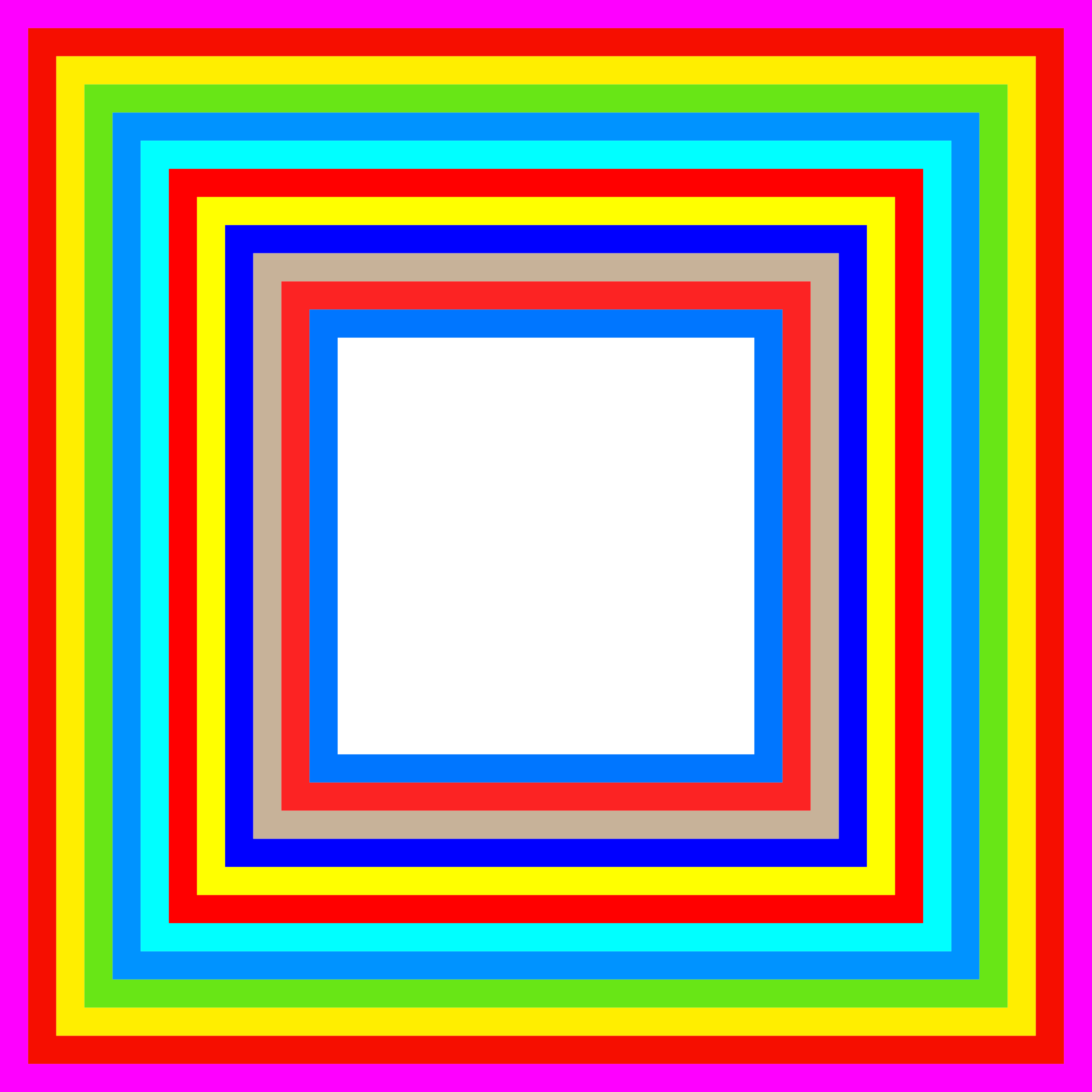 Rainbow Frame by GDJ