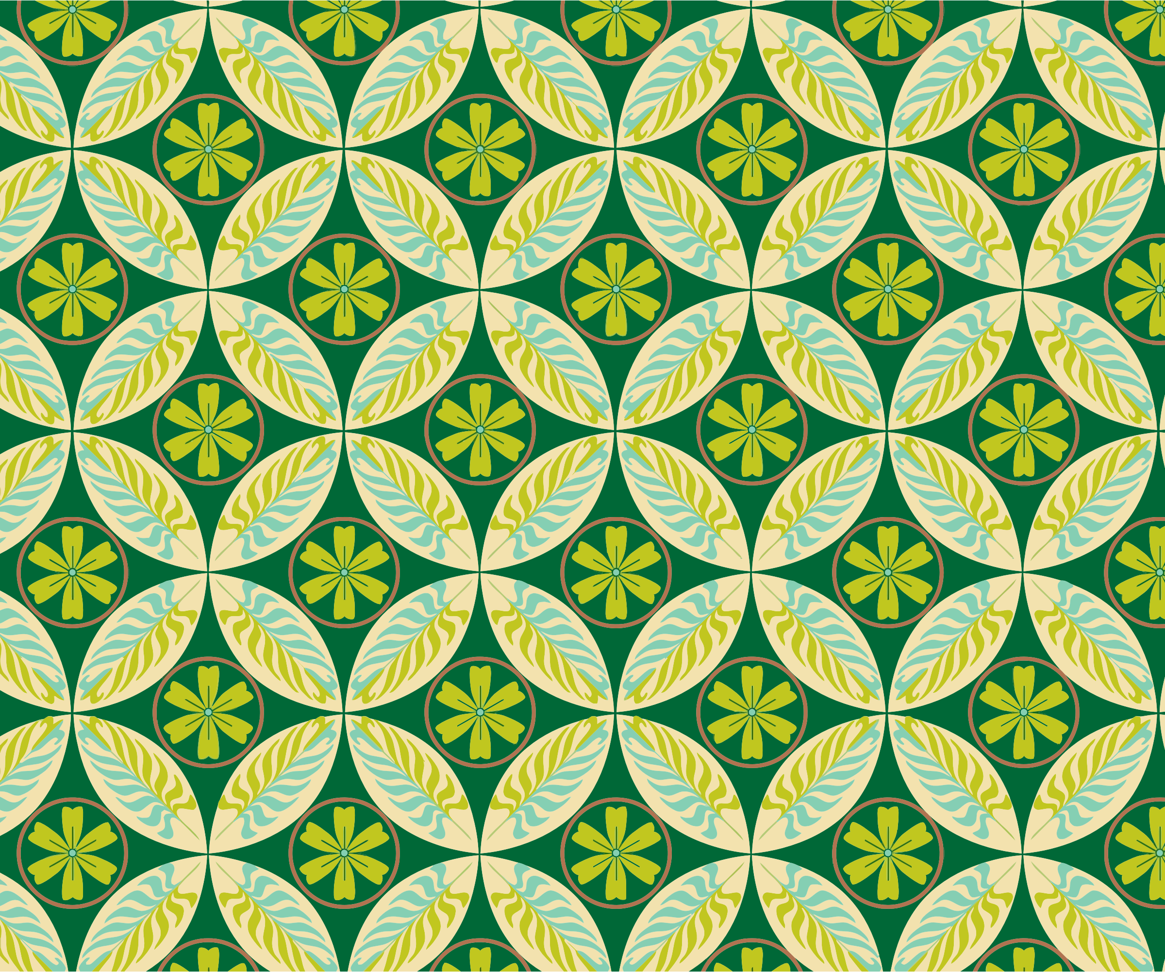 Abstract Green Pattern Background by GDJ