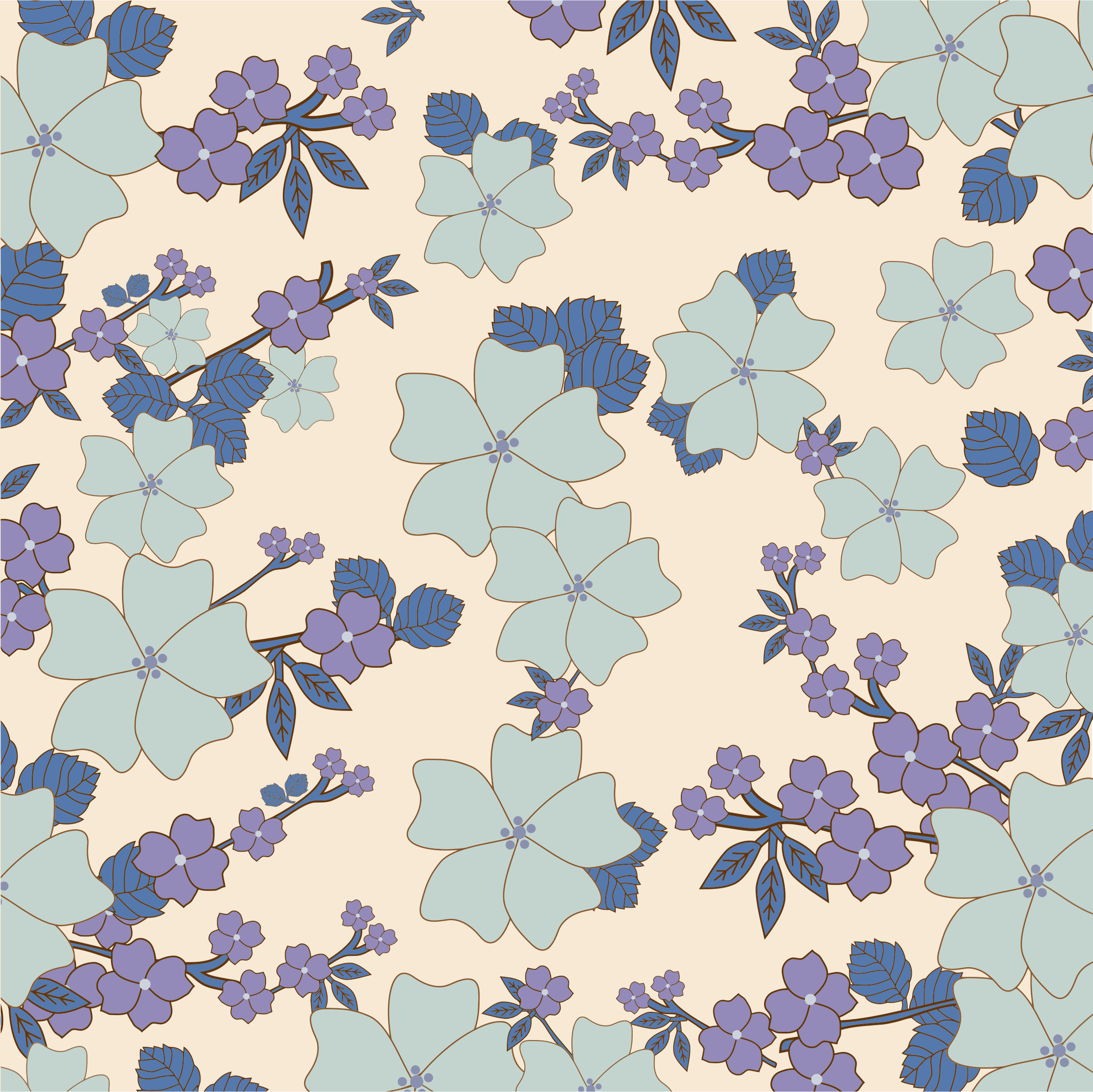 Vintage Floral Wallpaper Pattern 2