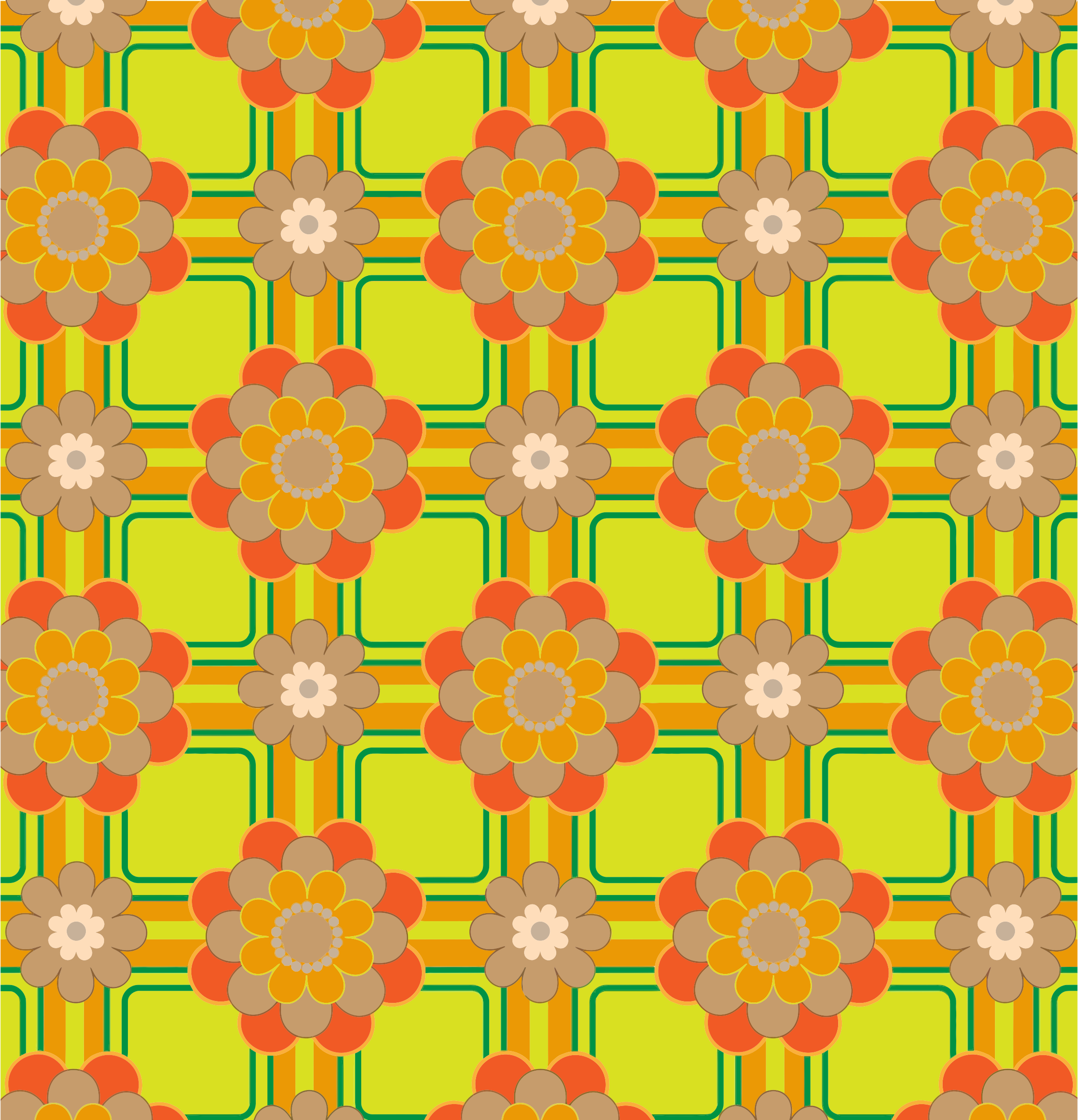 Colorful Floral Pattern Background 4 by GDJ