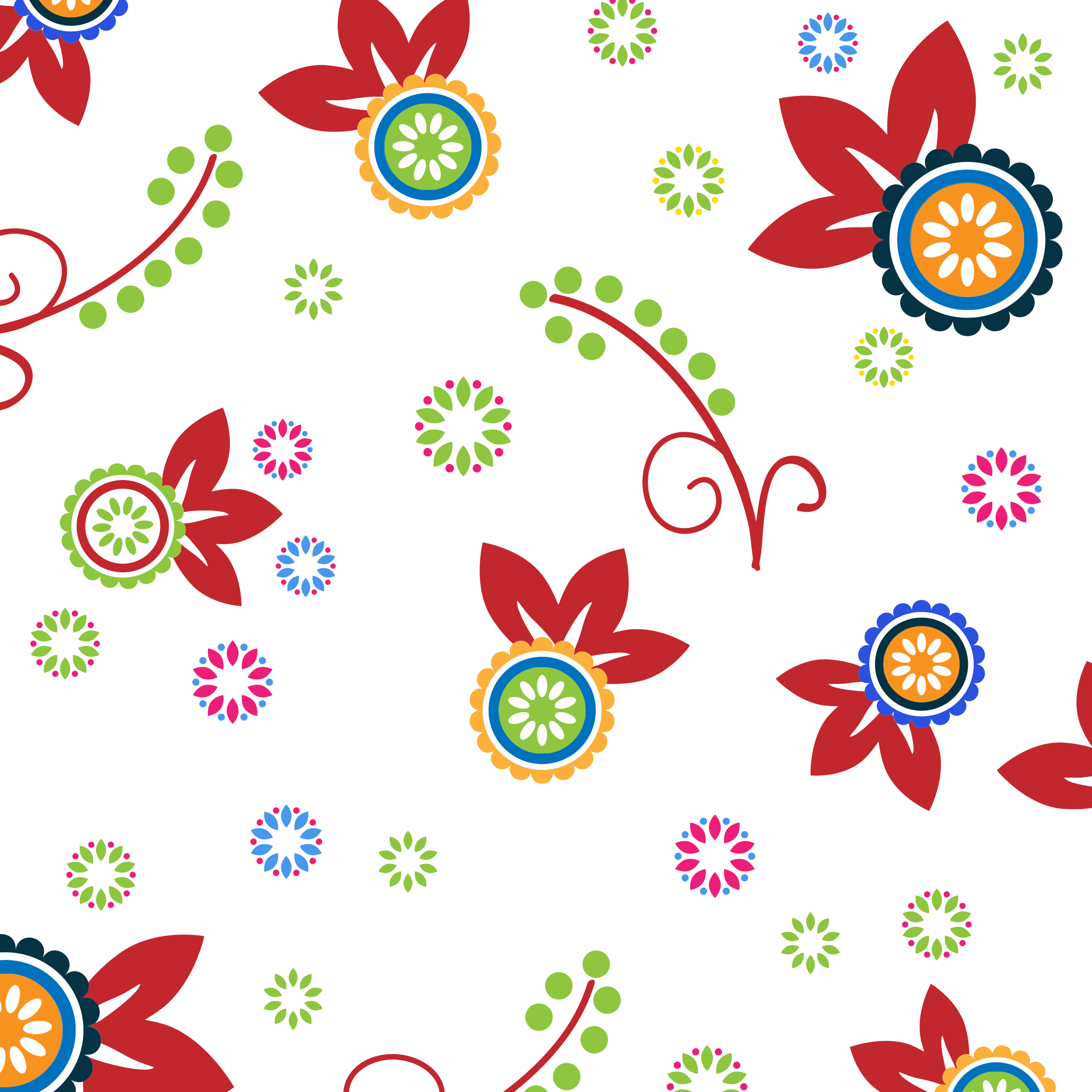 Colorful Floral Pattern Background 2 by GDJ