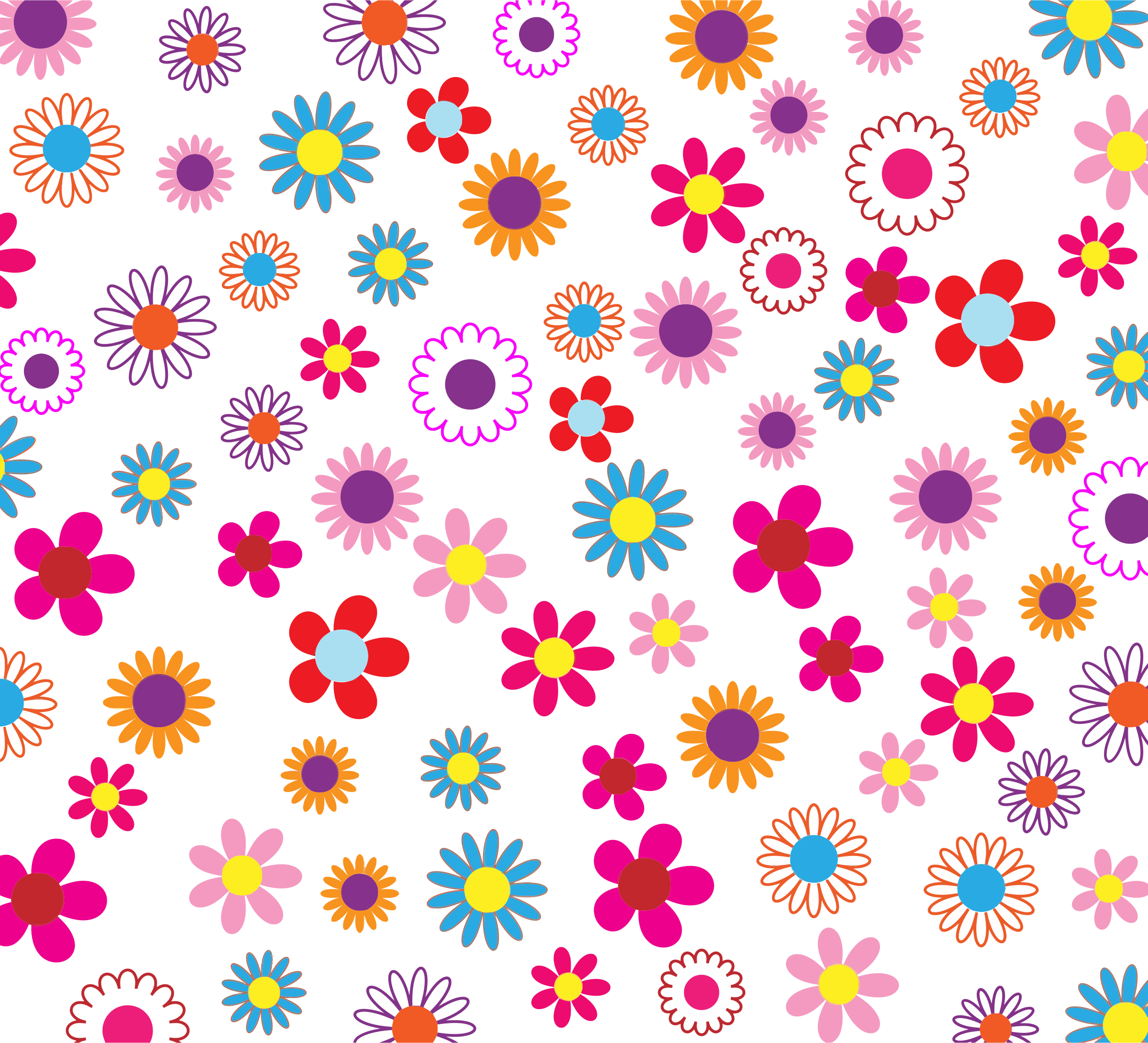 Clipart Colorful Floral Pattern Background