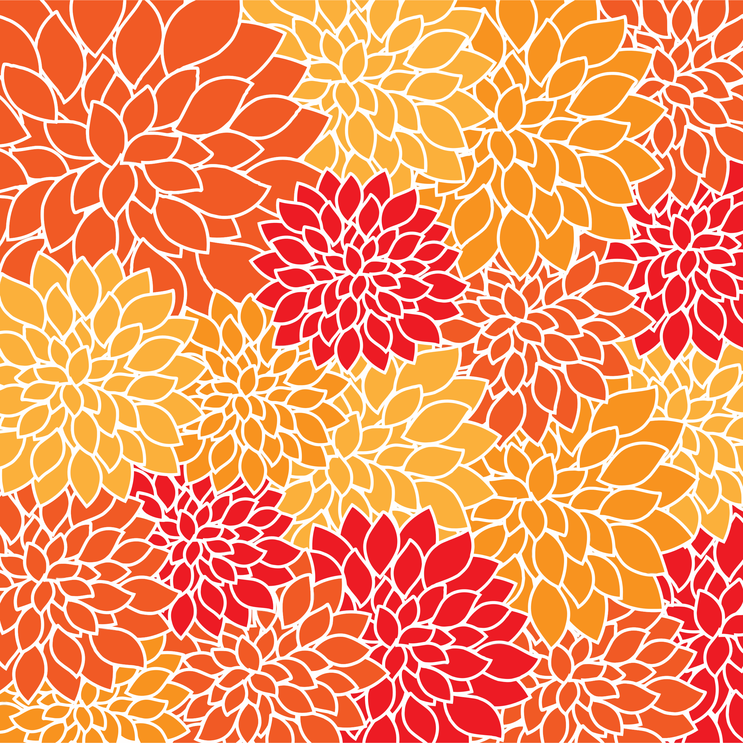 Clipart Vintage Floral Wallpaper Pattern