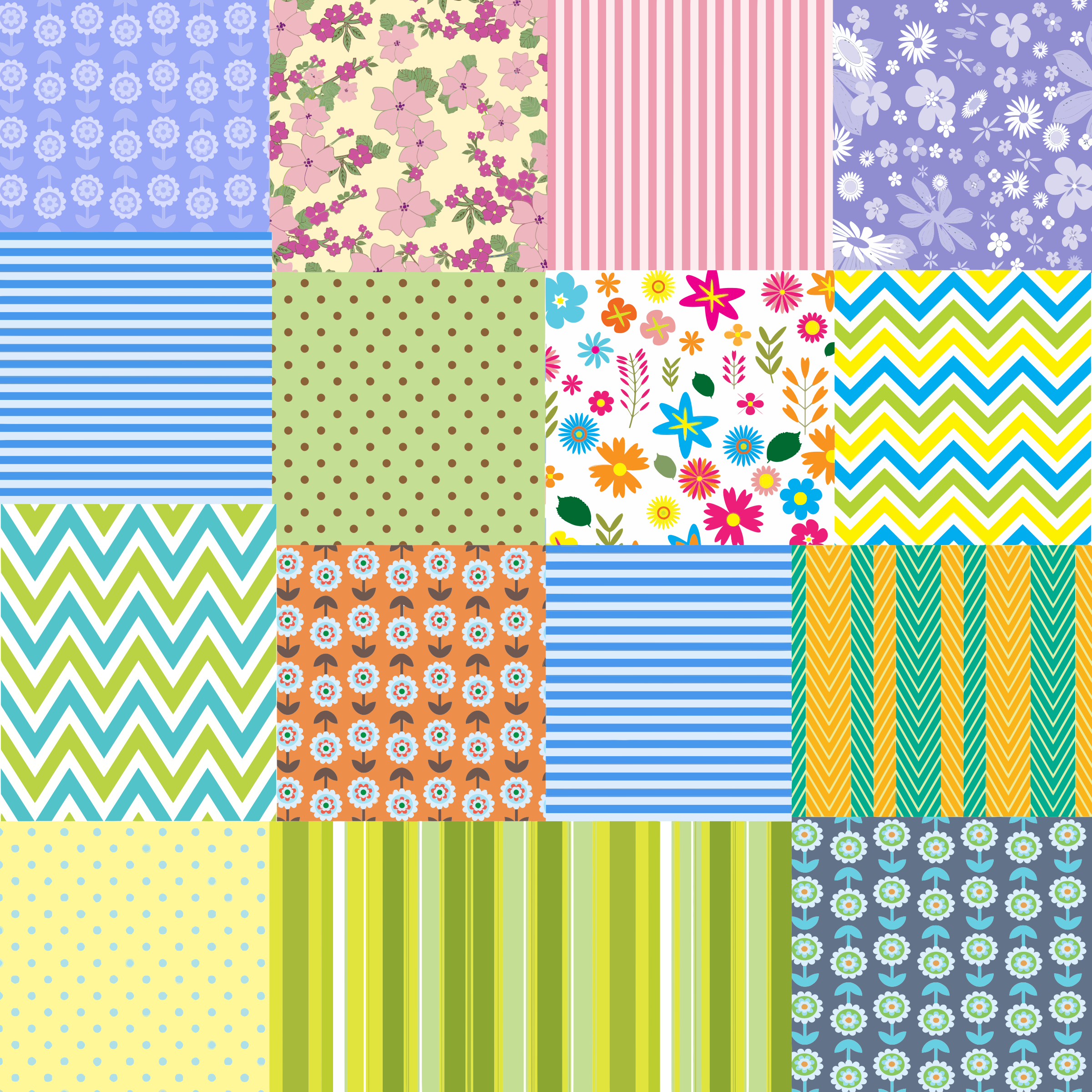 Patchwork Quilt Pattern Background by GDJ