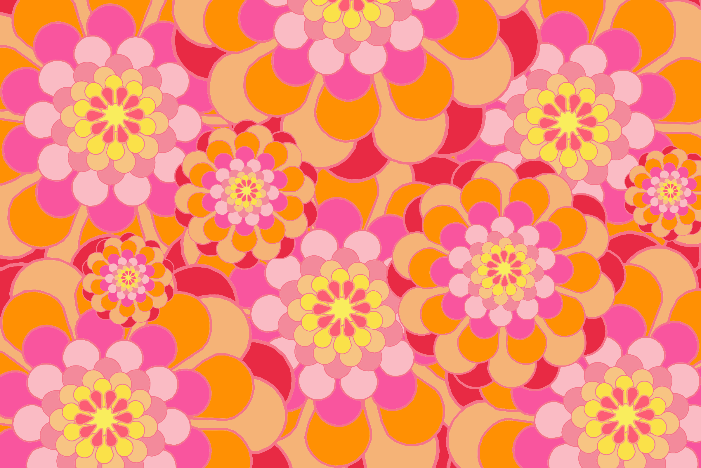 Melon Shades Floral Background by GDJ