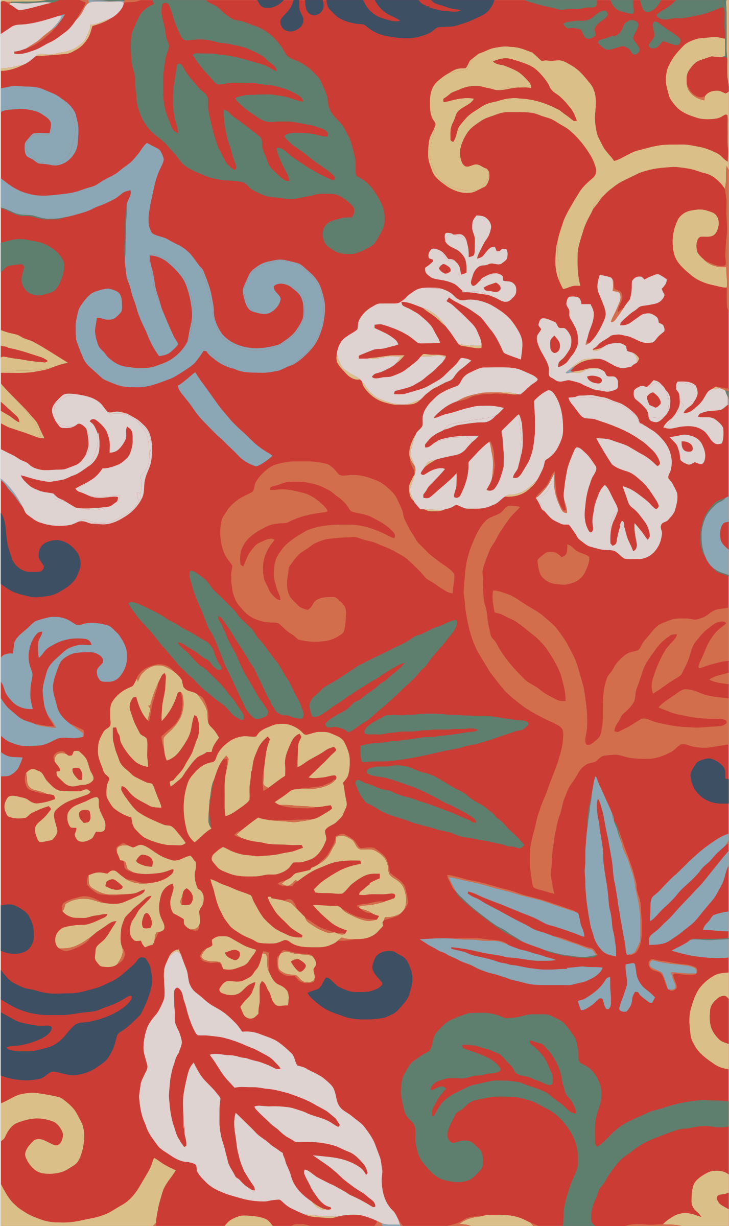 Vintage Japanese Fabric Pattern by GDJ