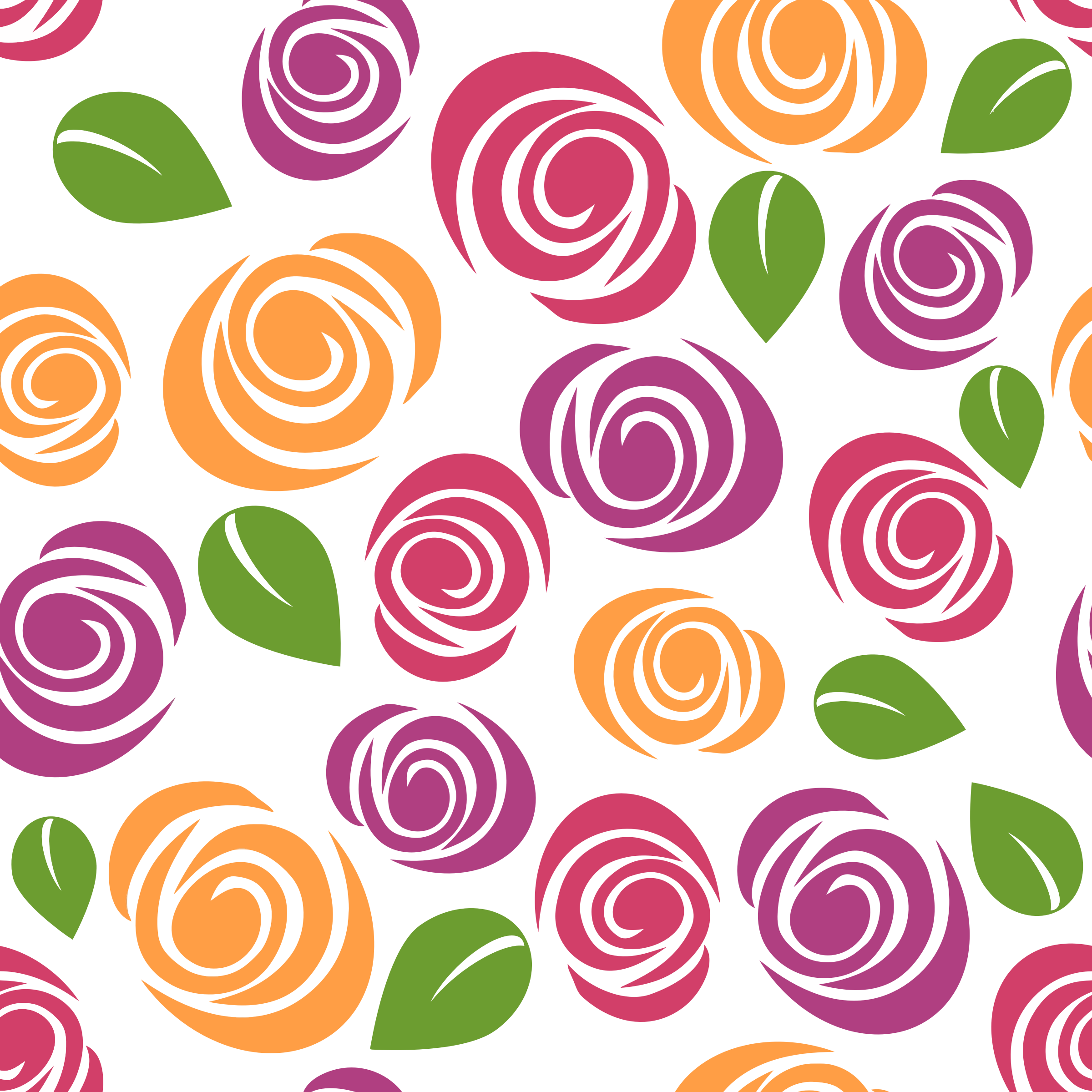 Colorful Floral Pattern Background 8 by GDJ