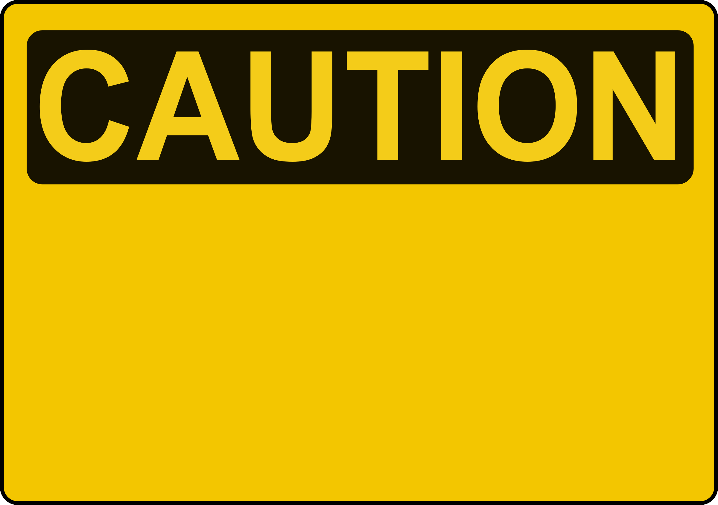 clipart caution sign template. Black Bedroom Furniture Sets. Home Design Ideas