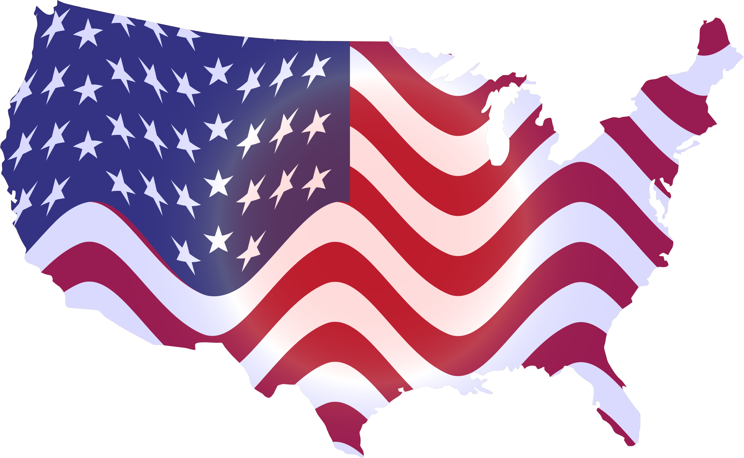 Wavy Flag America Map by GDJ