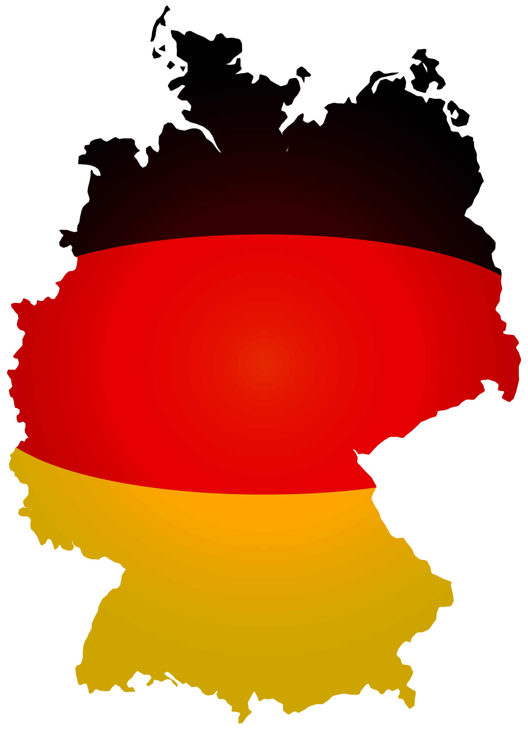 Clipart - Germany Flag Map
