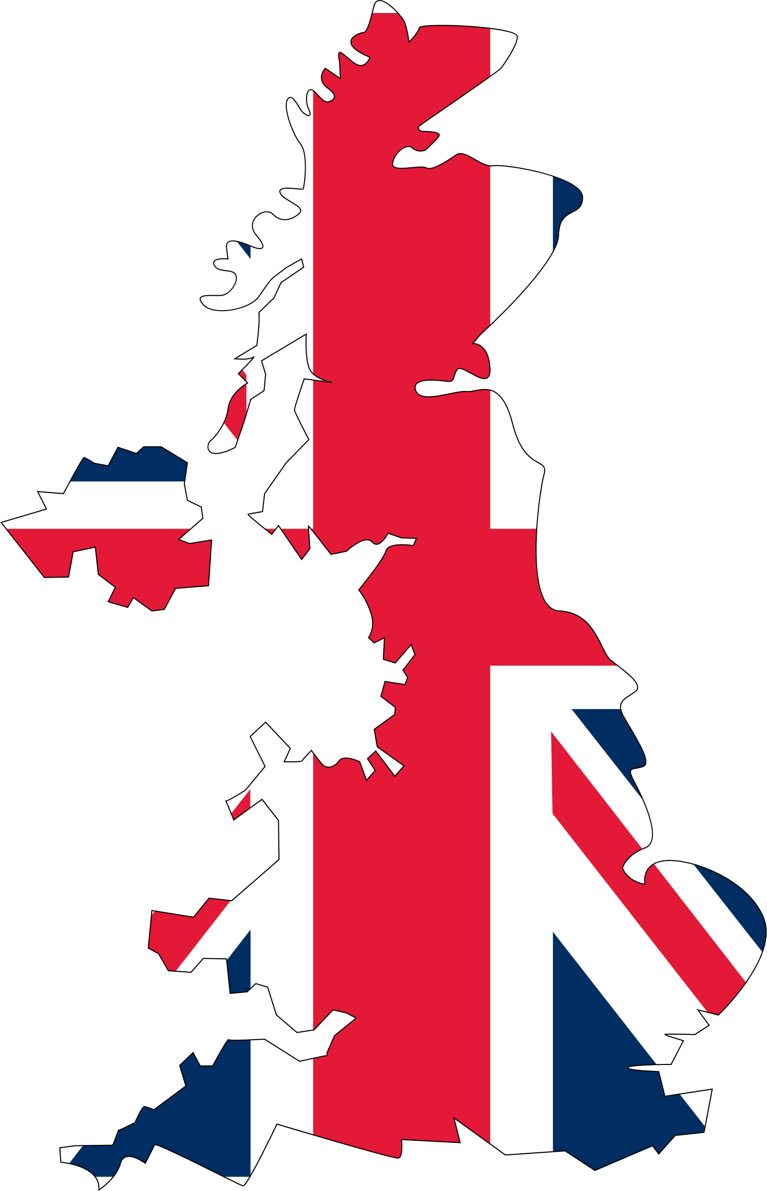 United Kingdom Flag Map by GDJ