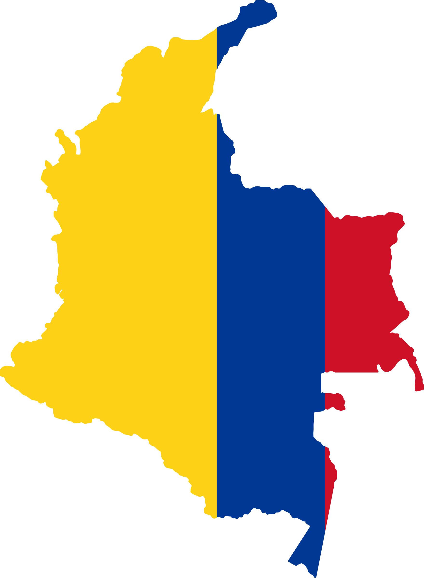 Colombia Map Flag by GDJ