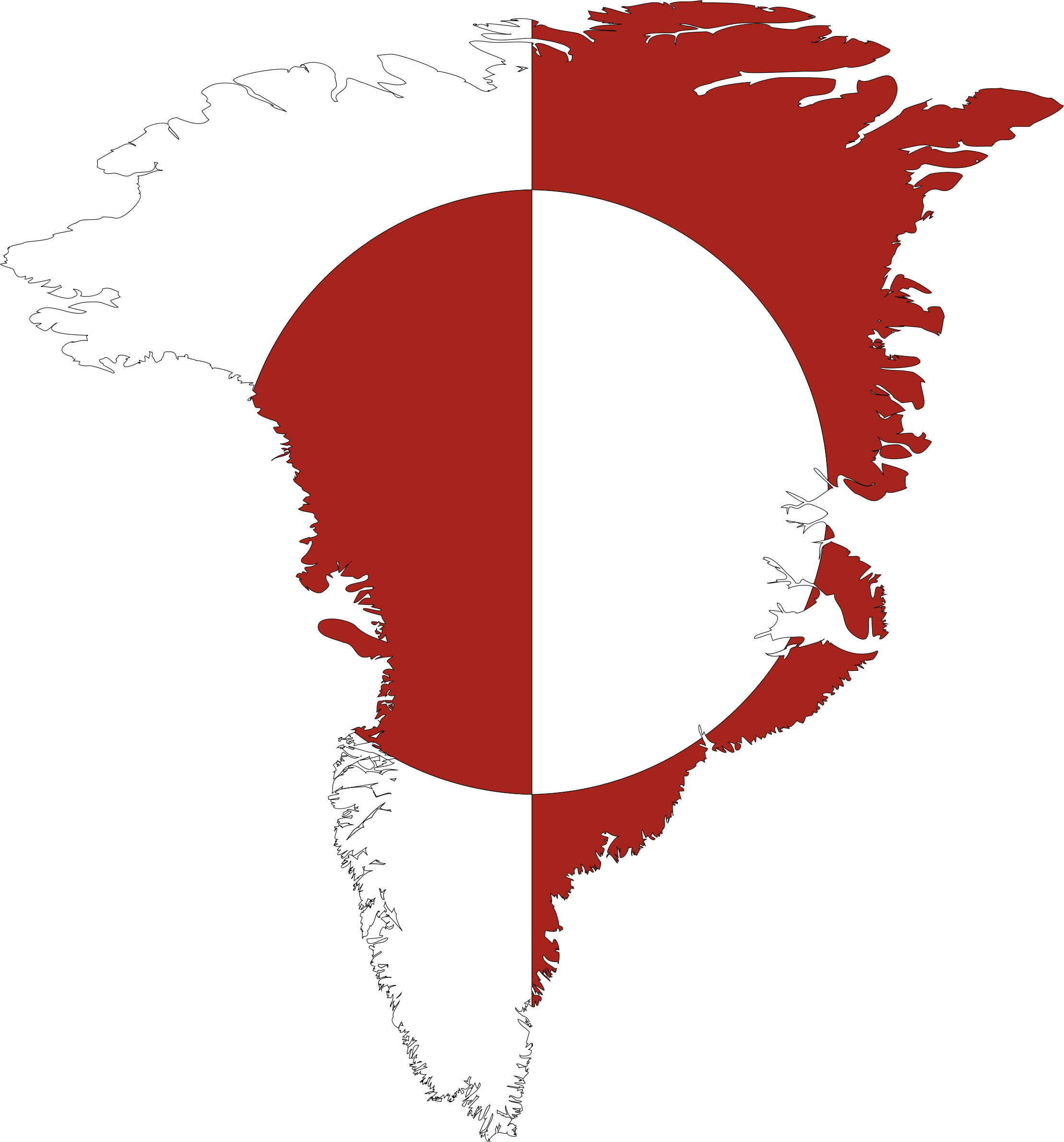 Greenland Map Flag by GDJ