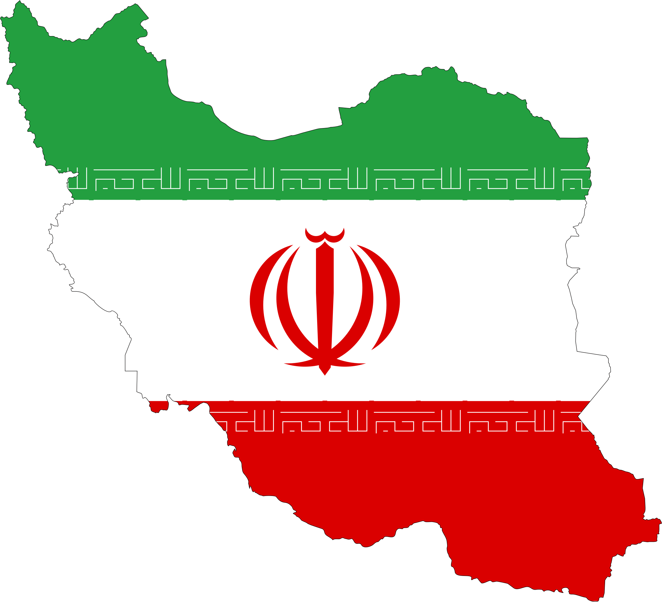Iran Flag Map by GDJ