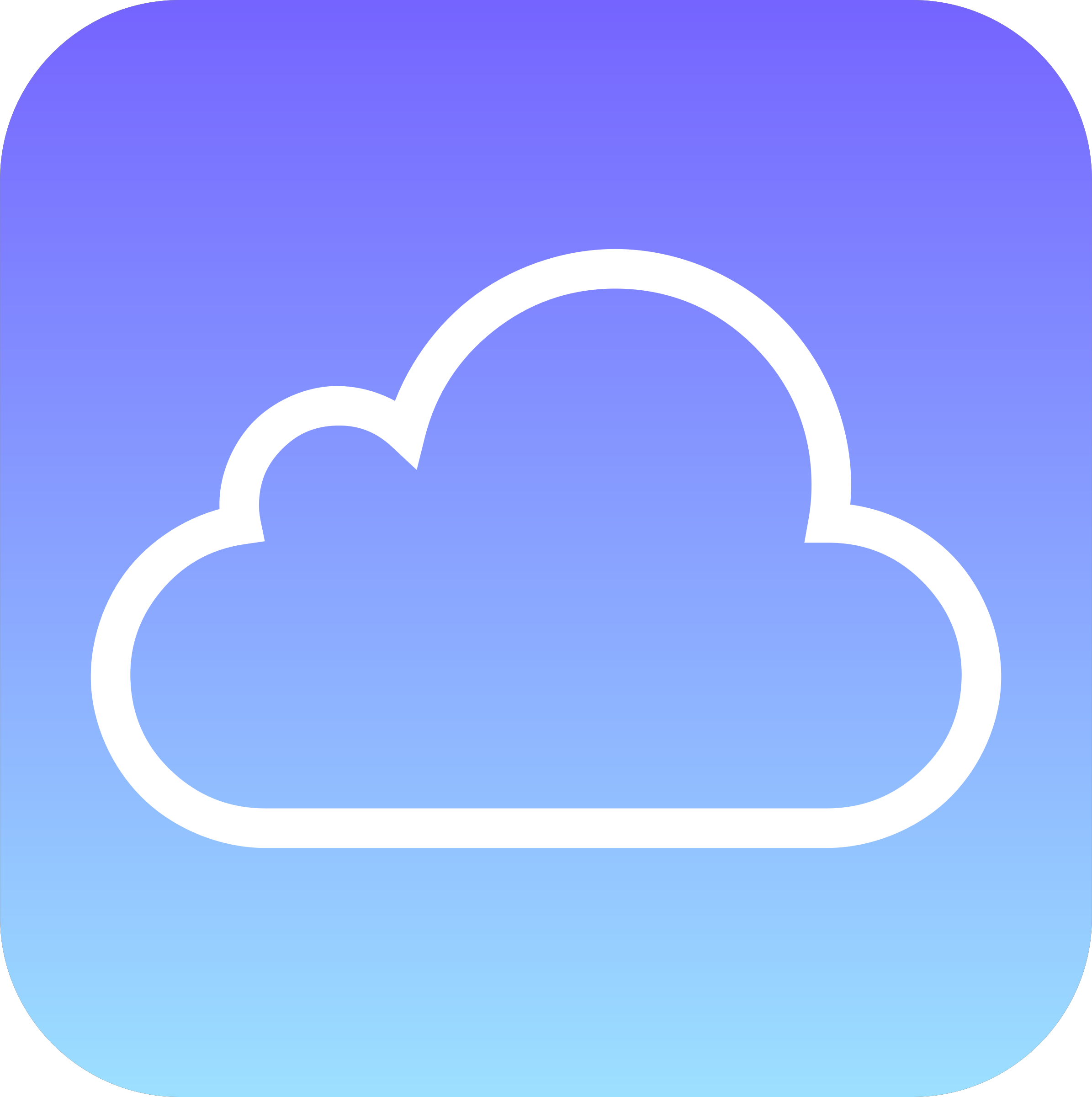 Simple Cloud Icon by GDJ