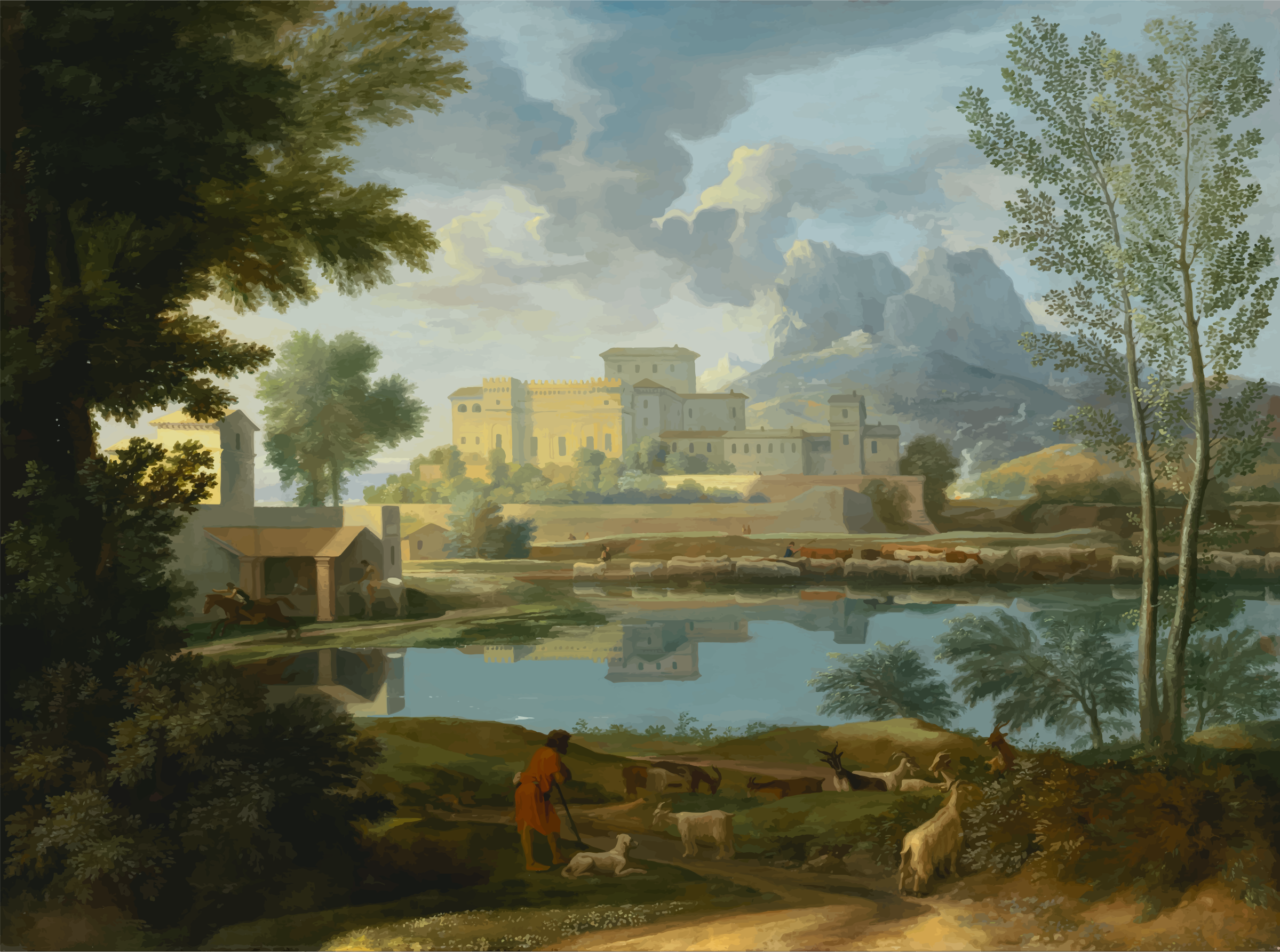 Nicolas Poussin Landscape With A Calm by GDJ