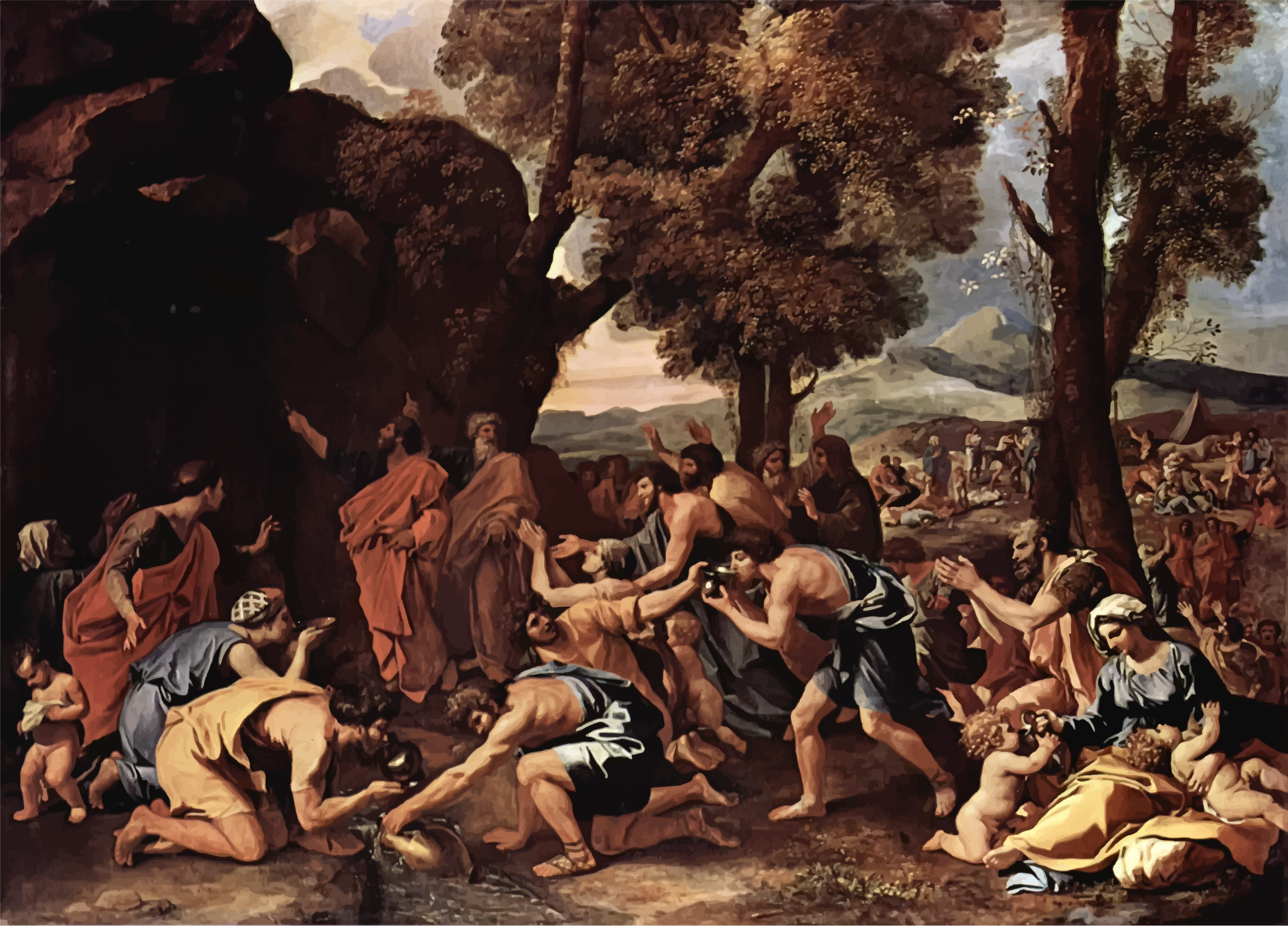 The Striking Of The Rock Nicolas Poussin by GDJ