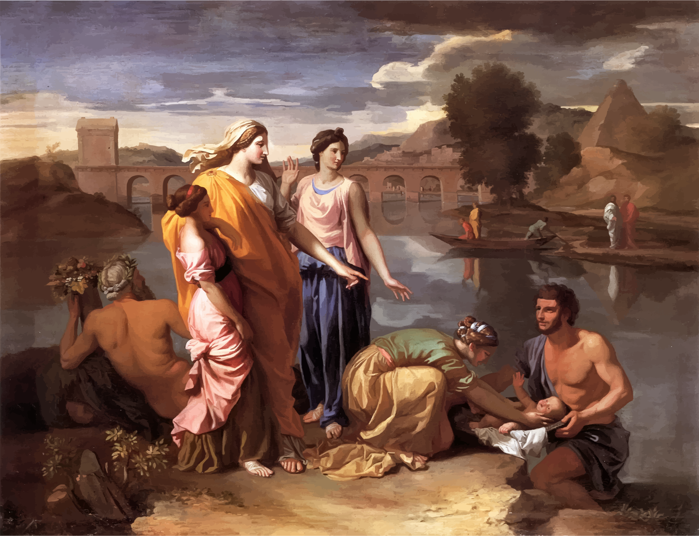 The Finding of Moses Nicolas Poussin by GDJ
