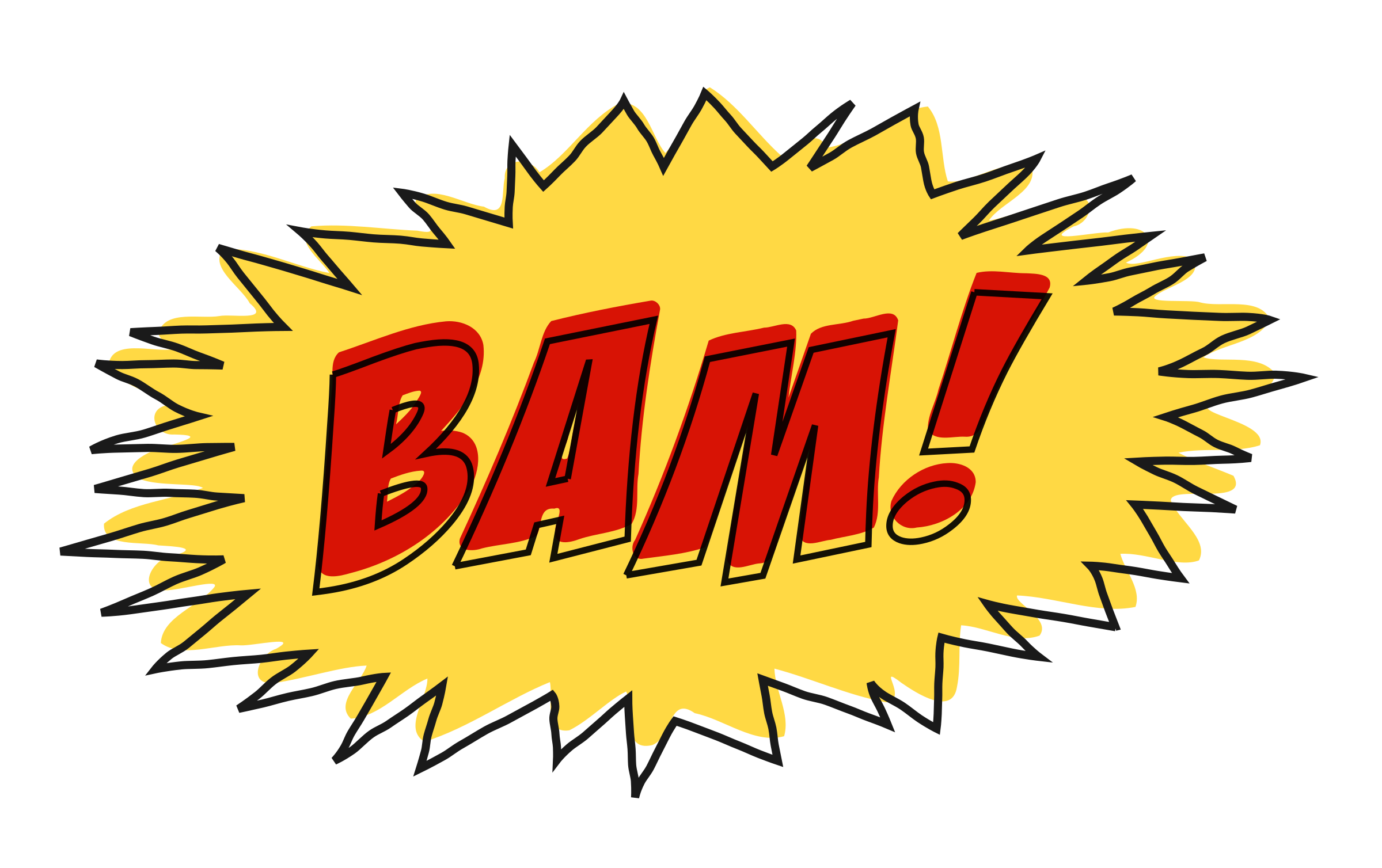 Clipart - Bam comic book sound effect no background