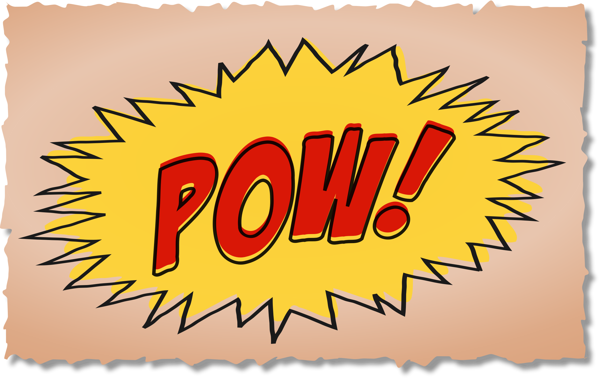 Pow comic book sound effect by flrns
