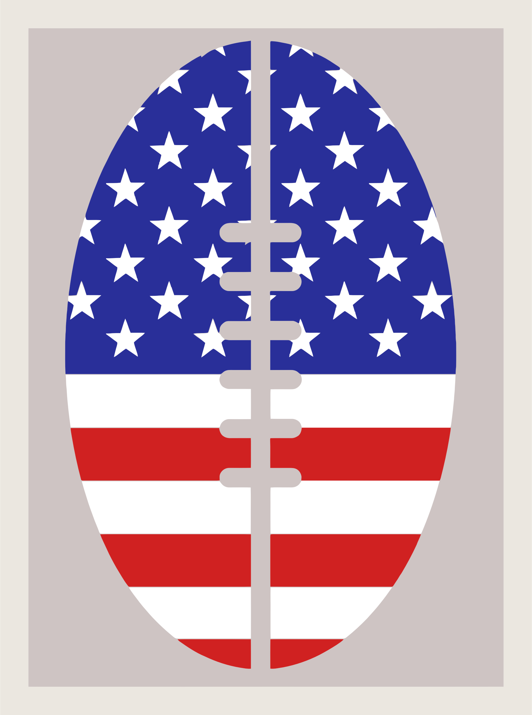 Football Flag USA by GDJ