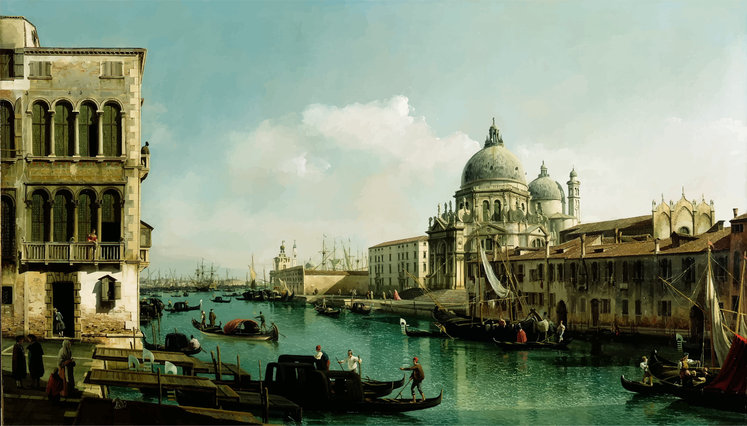 View of the Grand Canal and the Dogana By Bernardo Bellotto by GDJ