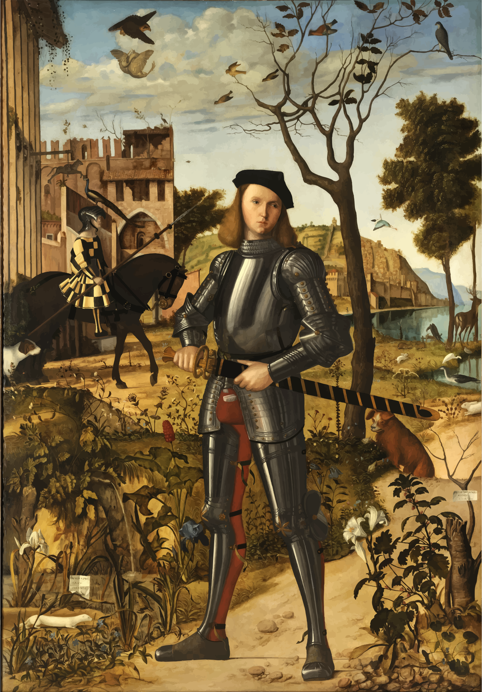 Young Knight in a Landscape Vittore Carpaccio by GDJ