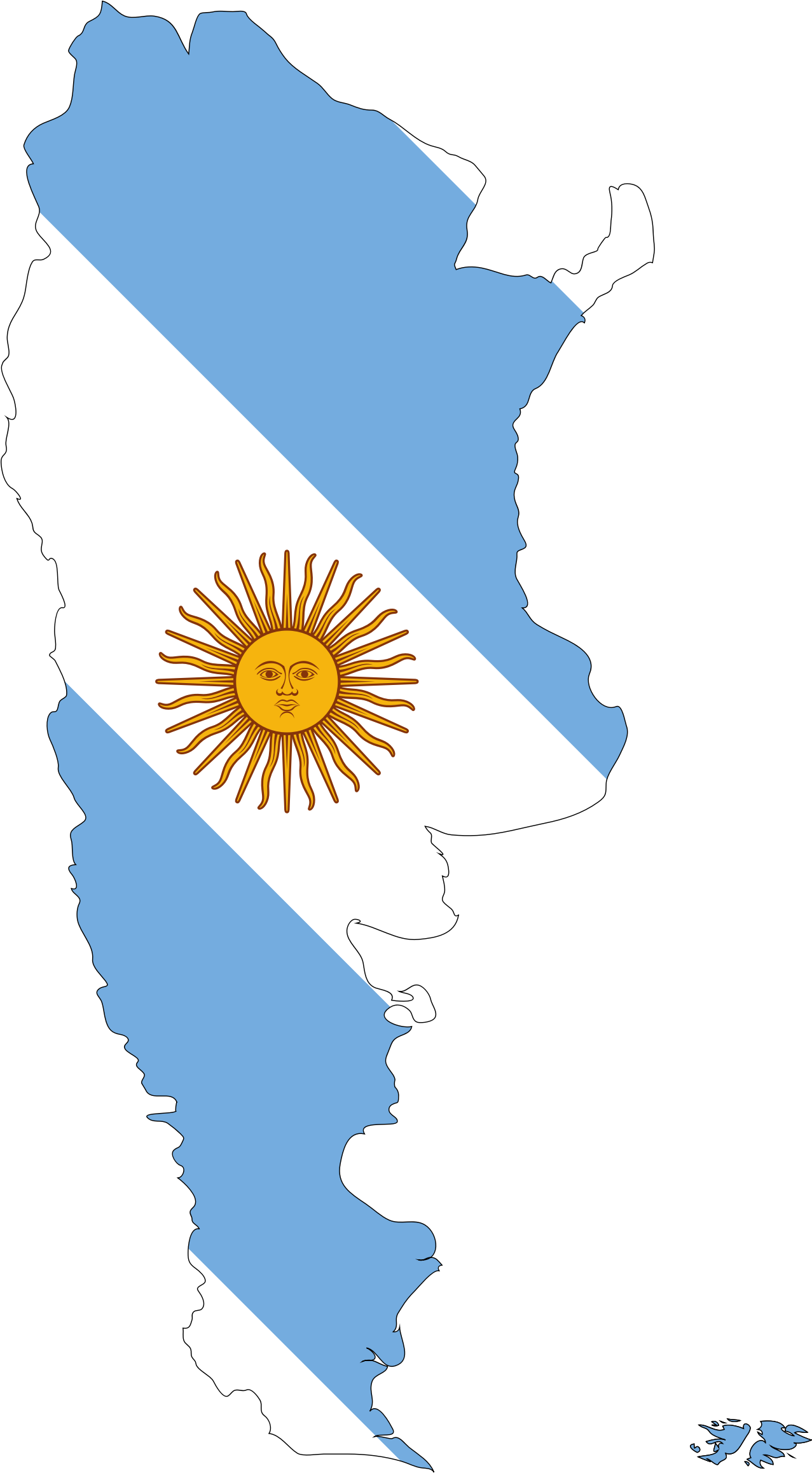Clipart Argentina Map Flag - Argentina map download