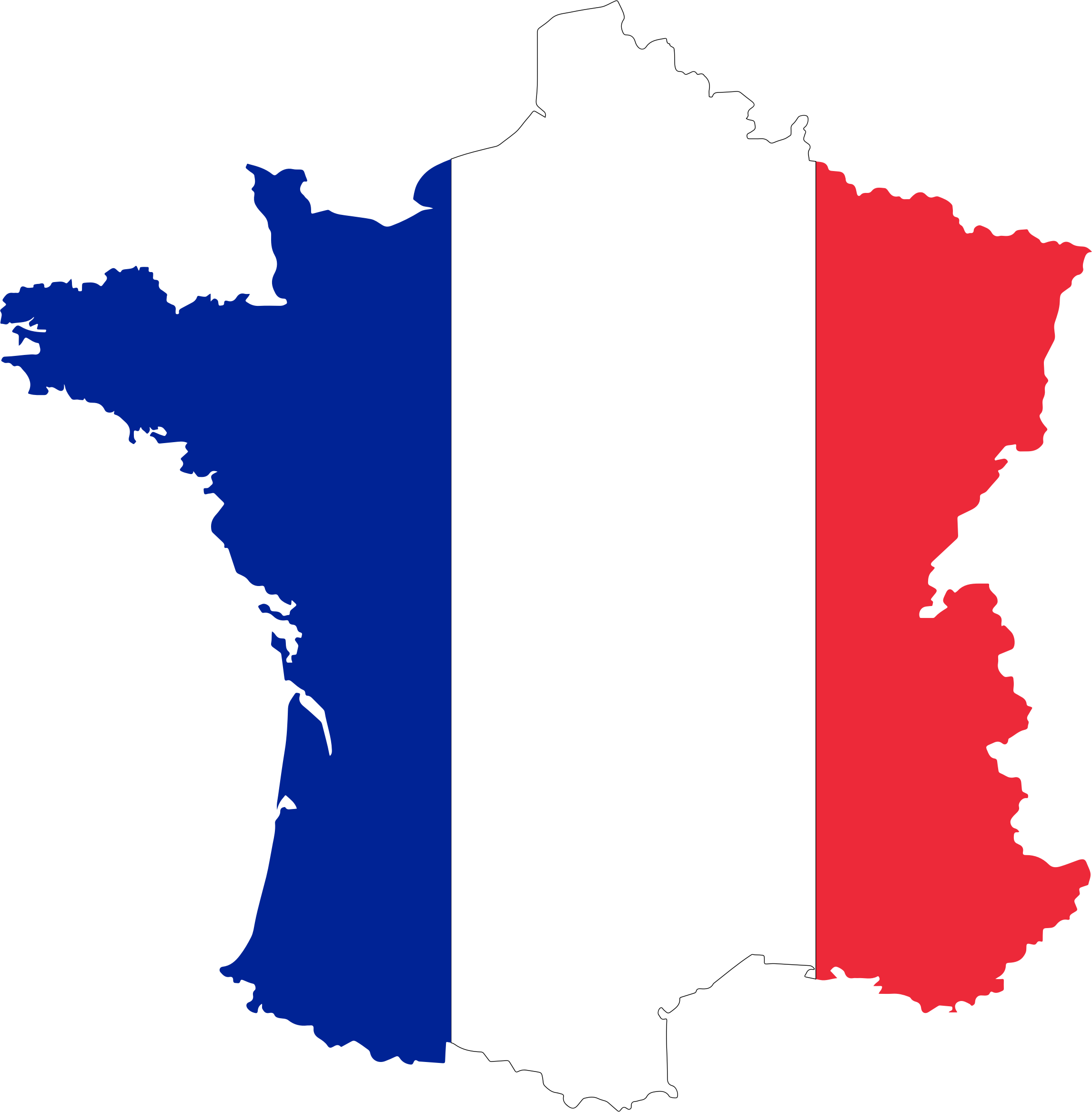 France Flag Map by GDJ