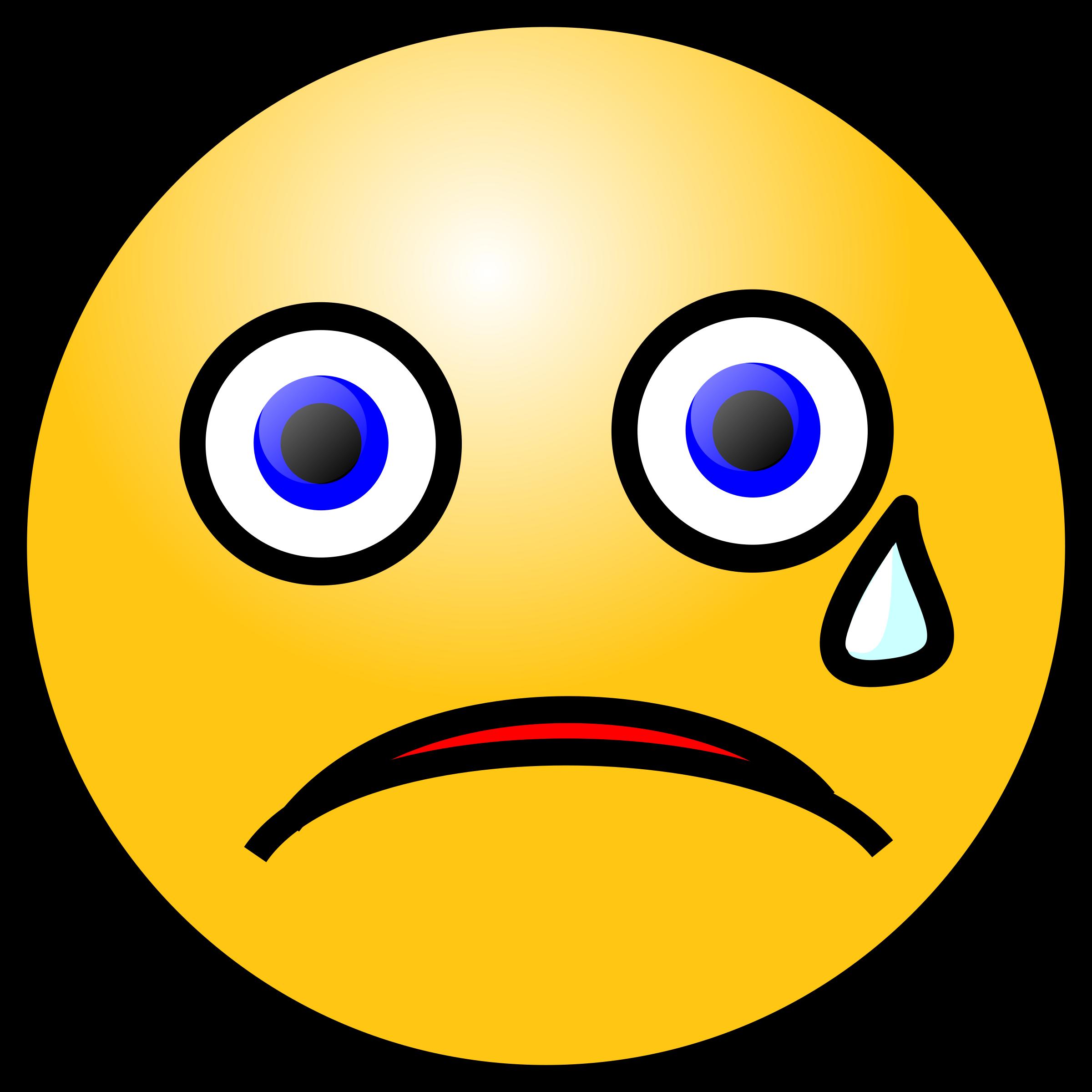 Emoticons: Crying face by nicubunu