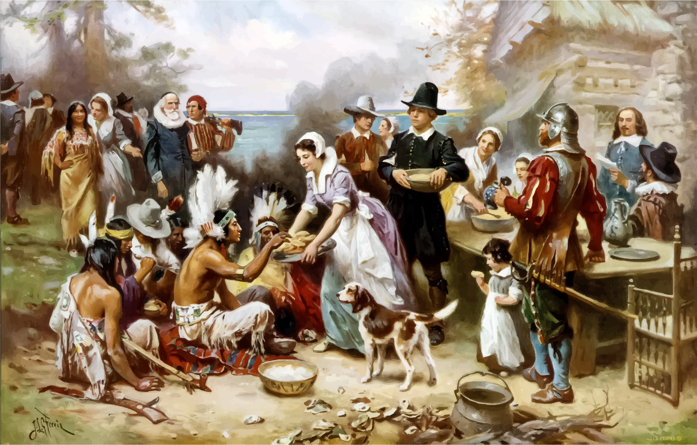 The First Thanksgiving by GDJ