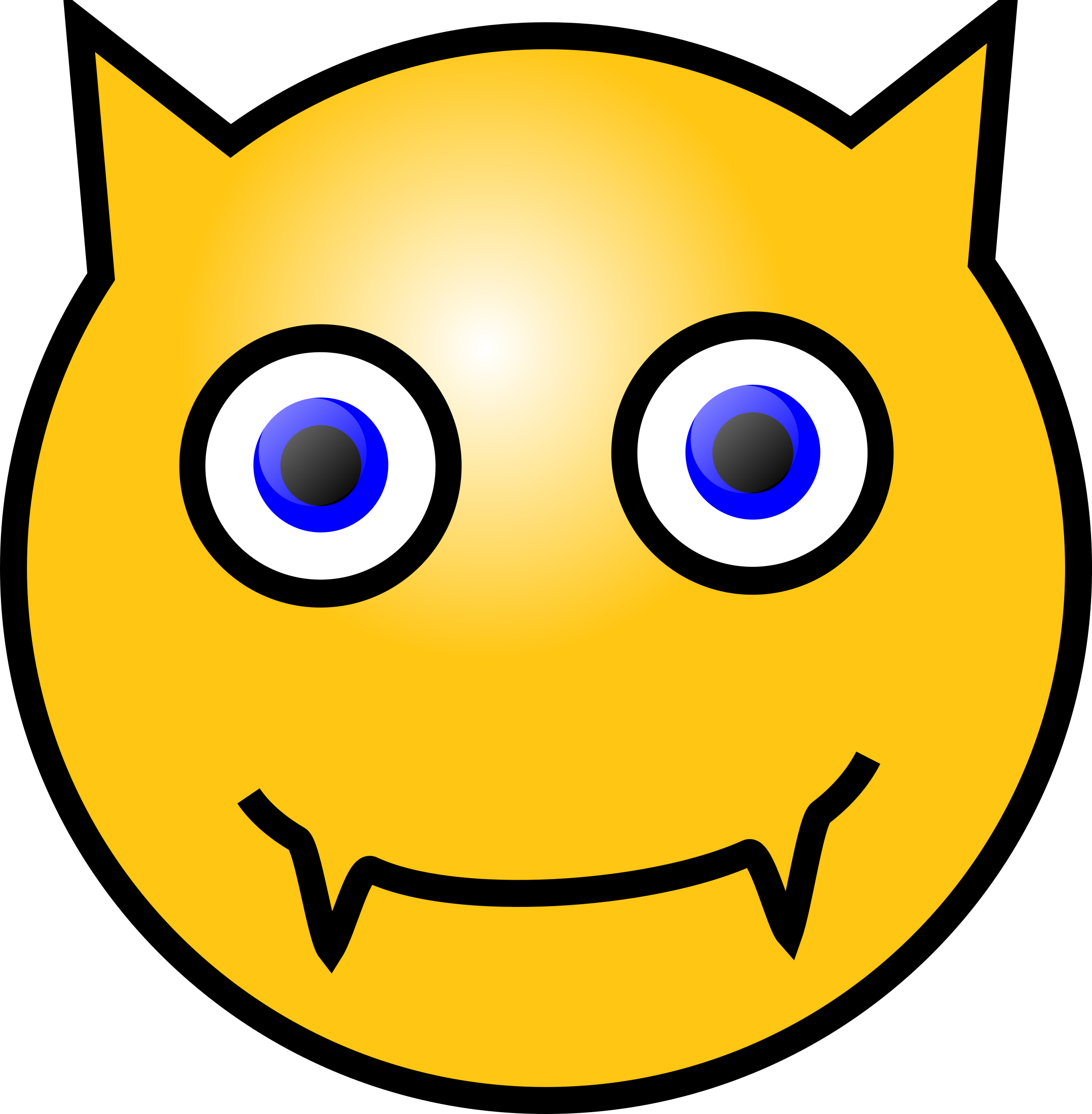Emoticons: Devil face by nicubunu