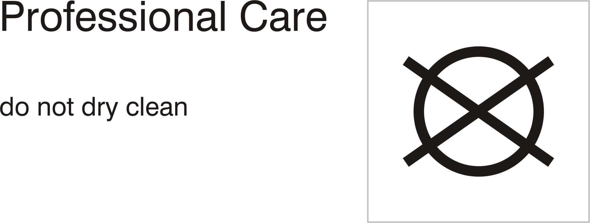 Clipart Care Symbols Professional Care Do Not Dry Clean