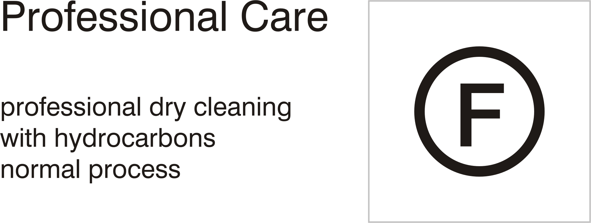 Care symbols, professional care: dry clean with hydrocarbons - normal process by Vanja