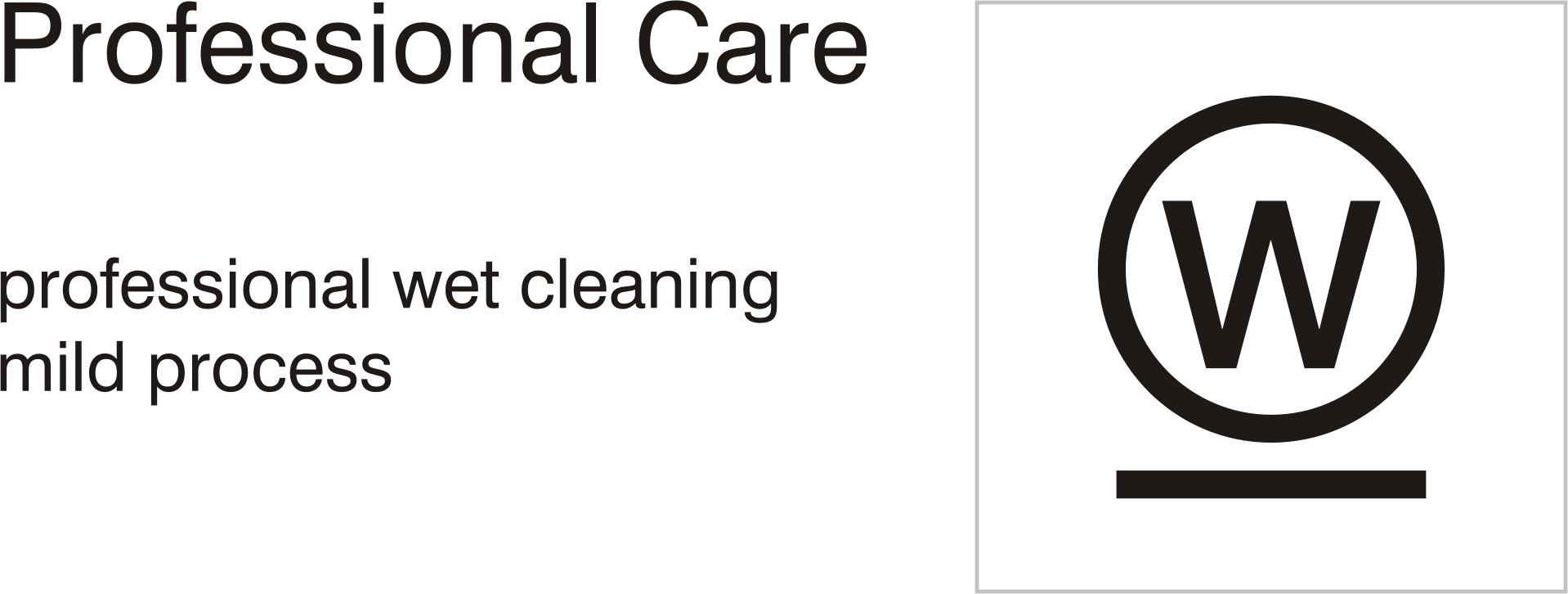 Care symbols, professional care: wet clean - mild process by Vanja