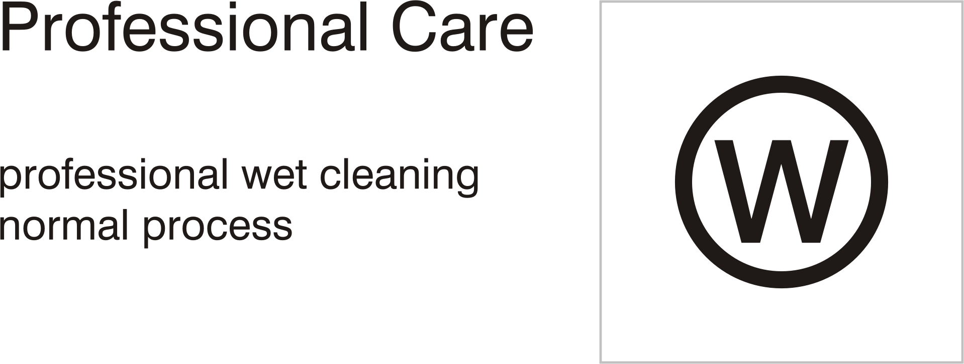 Care symbols, professional care: wet clean - normal process by Vanja