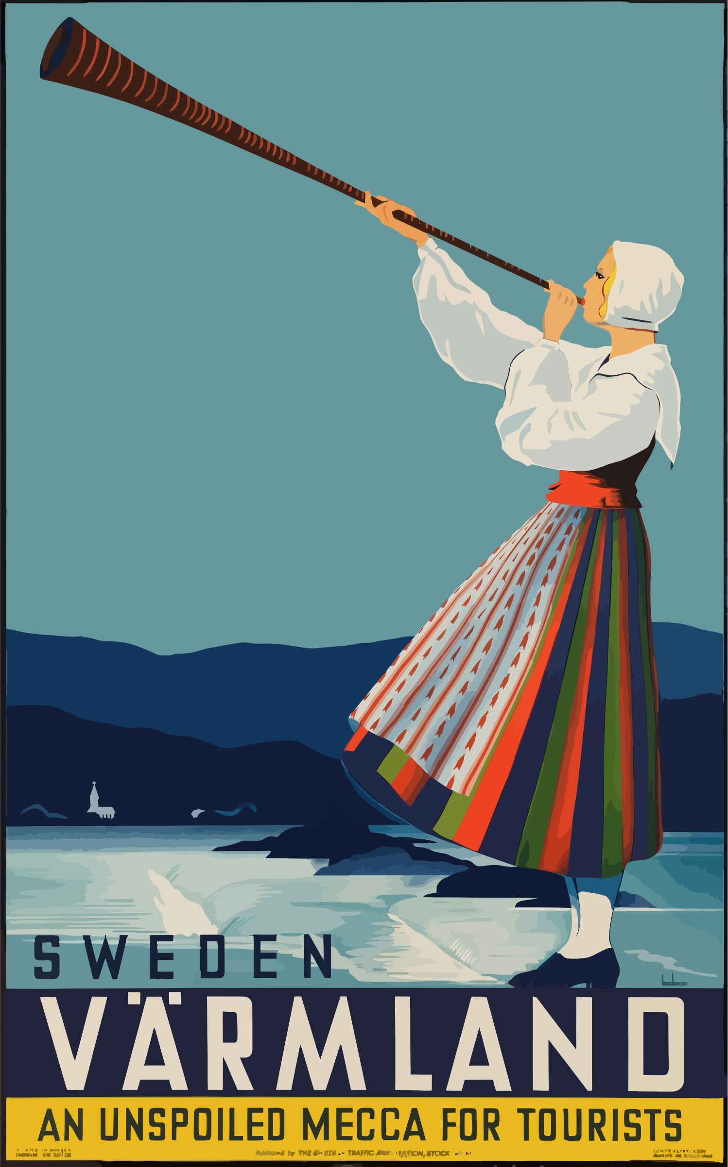 Vintage Travel Poster Sweden by GDJ