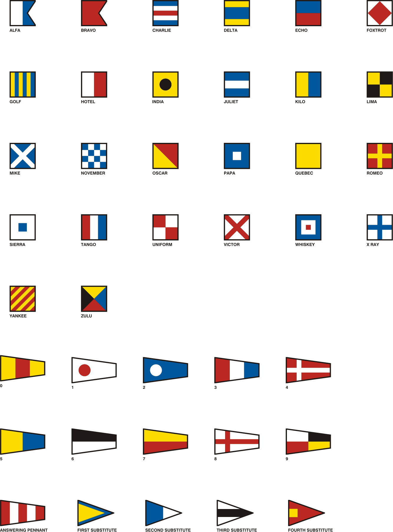 Gran Pavese flags, all flags by Vanja