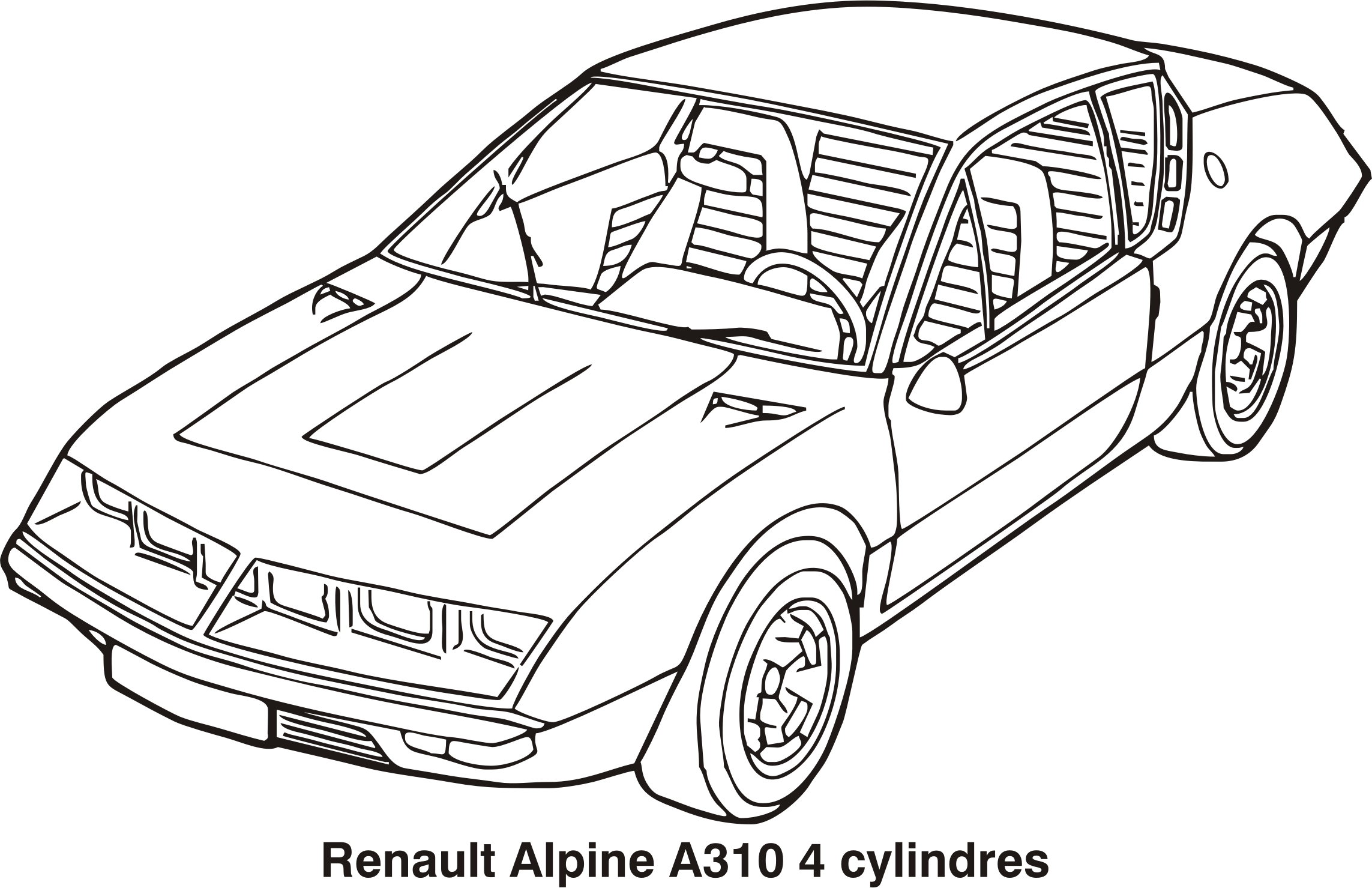 Renault Alpine A310 4 cylindres, year 1972 by Vanja