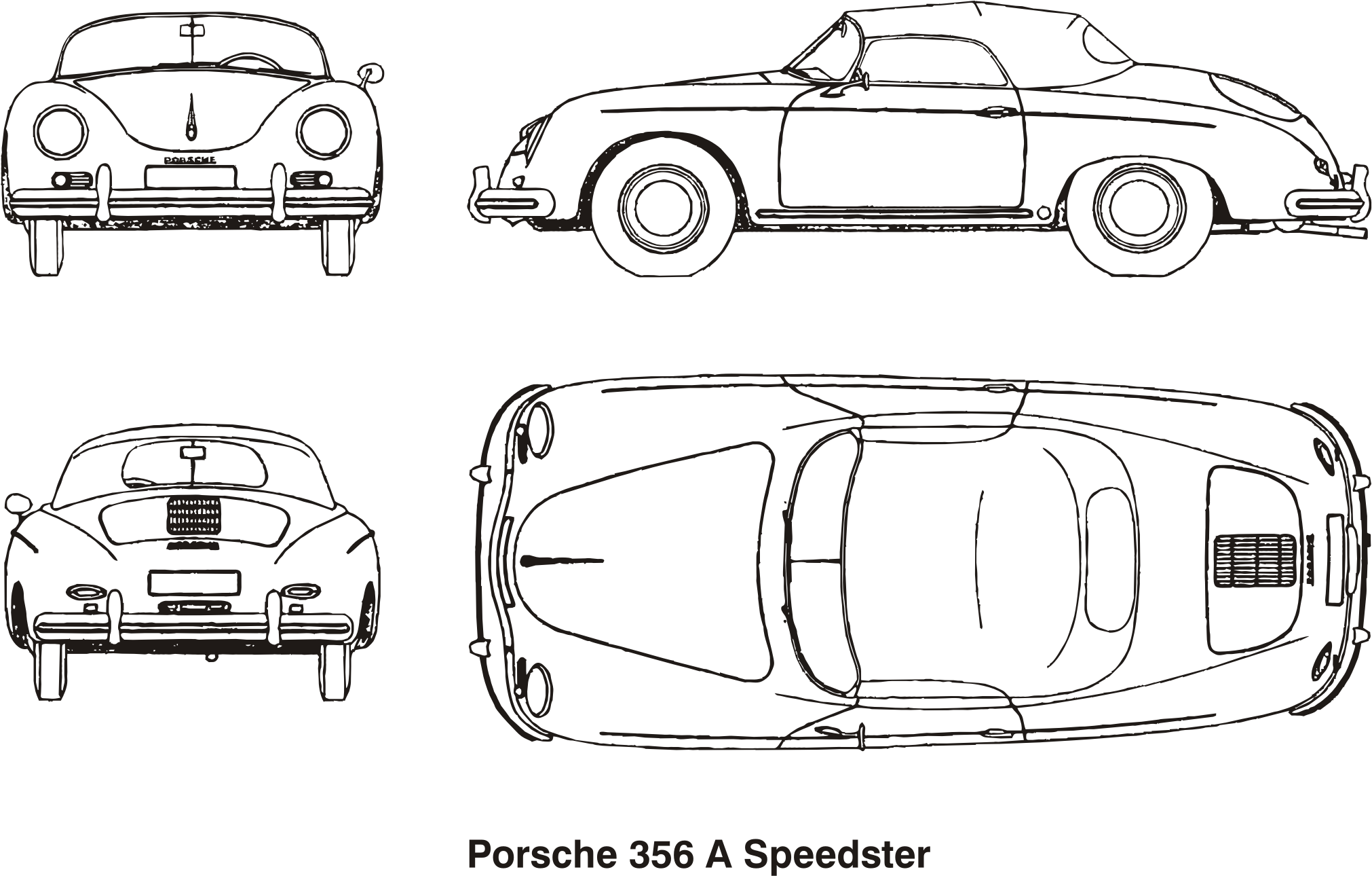 Porsche 356 A Speedster, year 1958 by Vanja