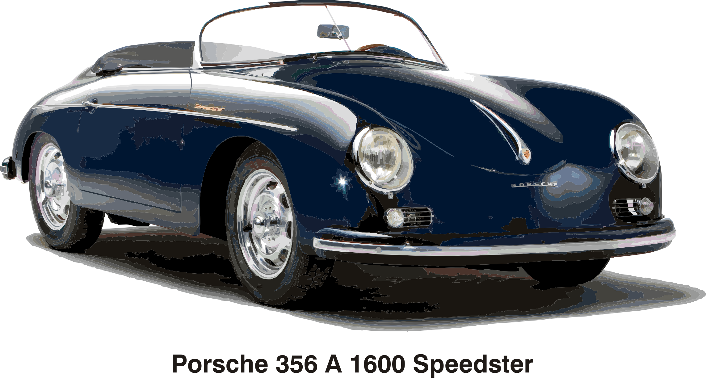Clipart Porsche 356 A 1600 Speedster Year 1956