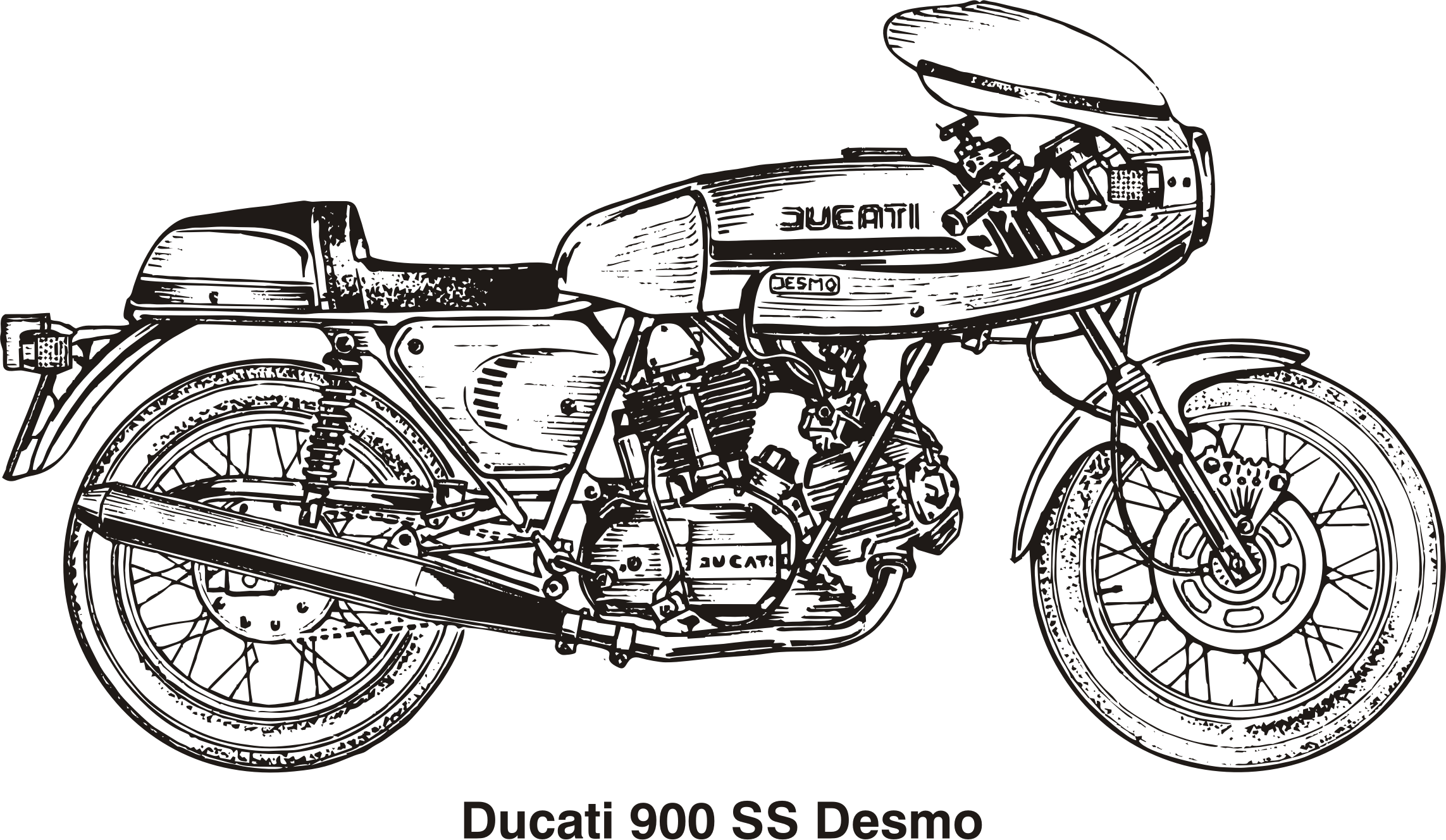 Ducati 900 SS Desmo, year 1980 by Vanja