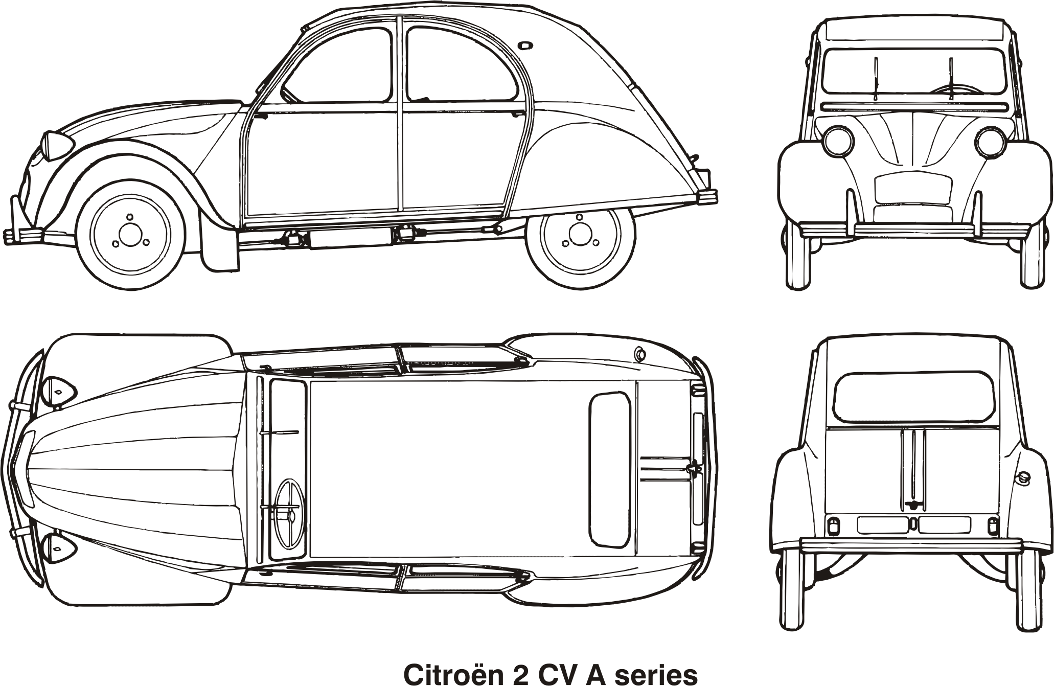 Citroen 2CV A series, year 1960 by Vanja